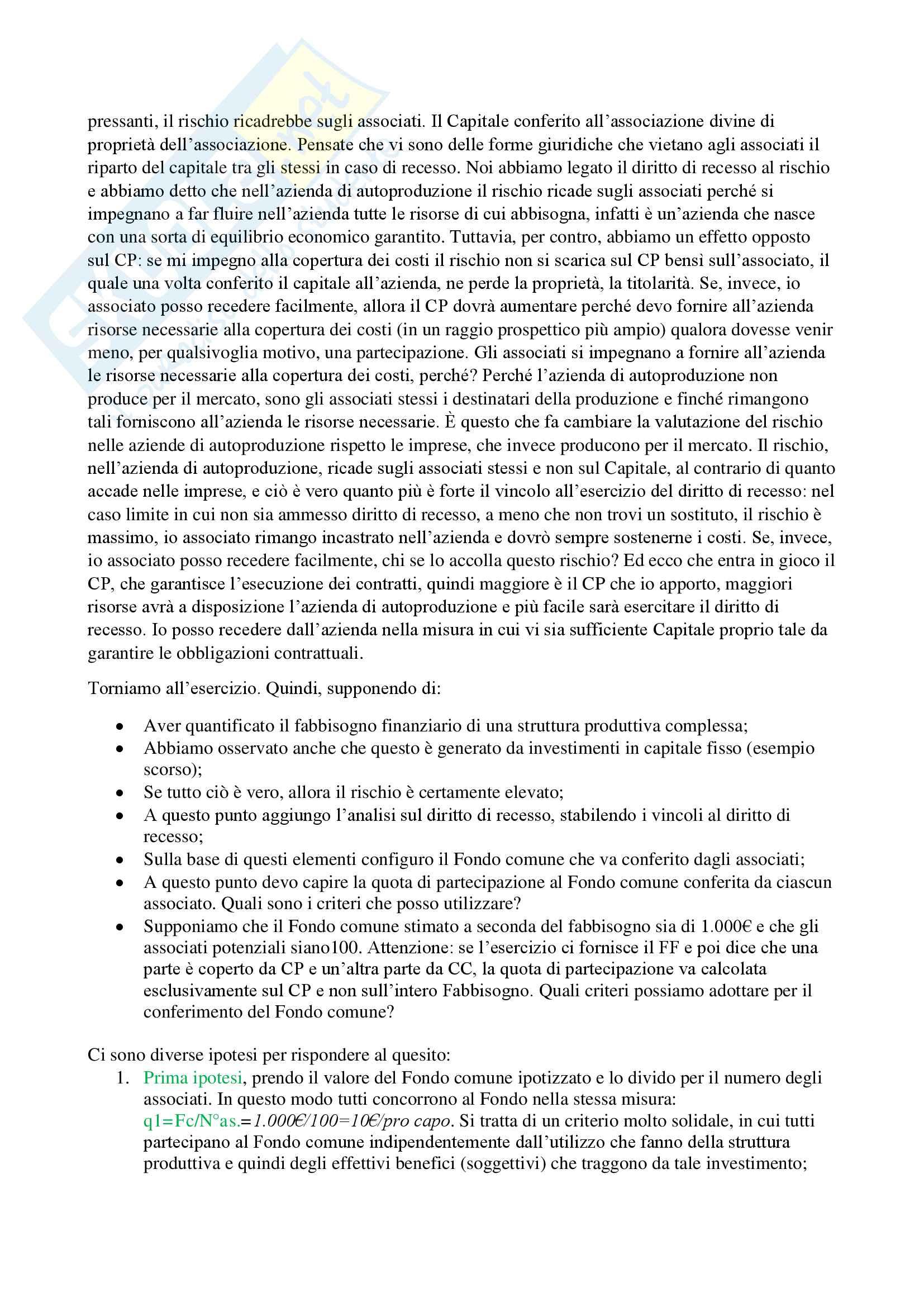 Esercizi di economia delle aziende non profit Pag. 21
