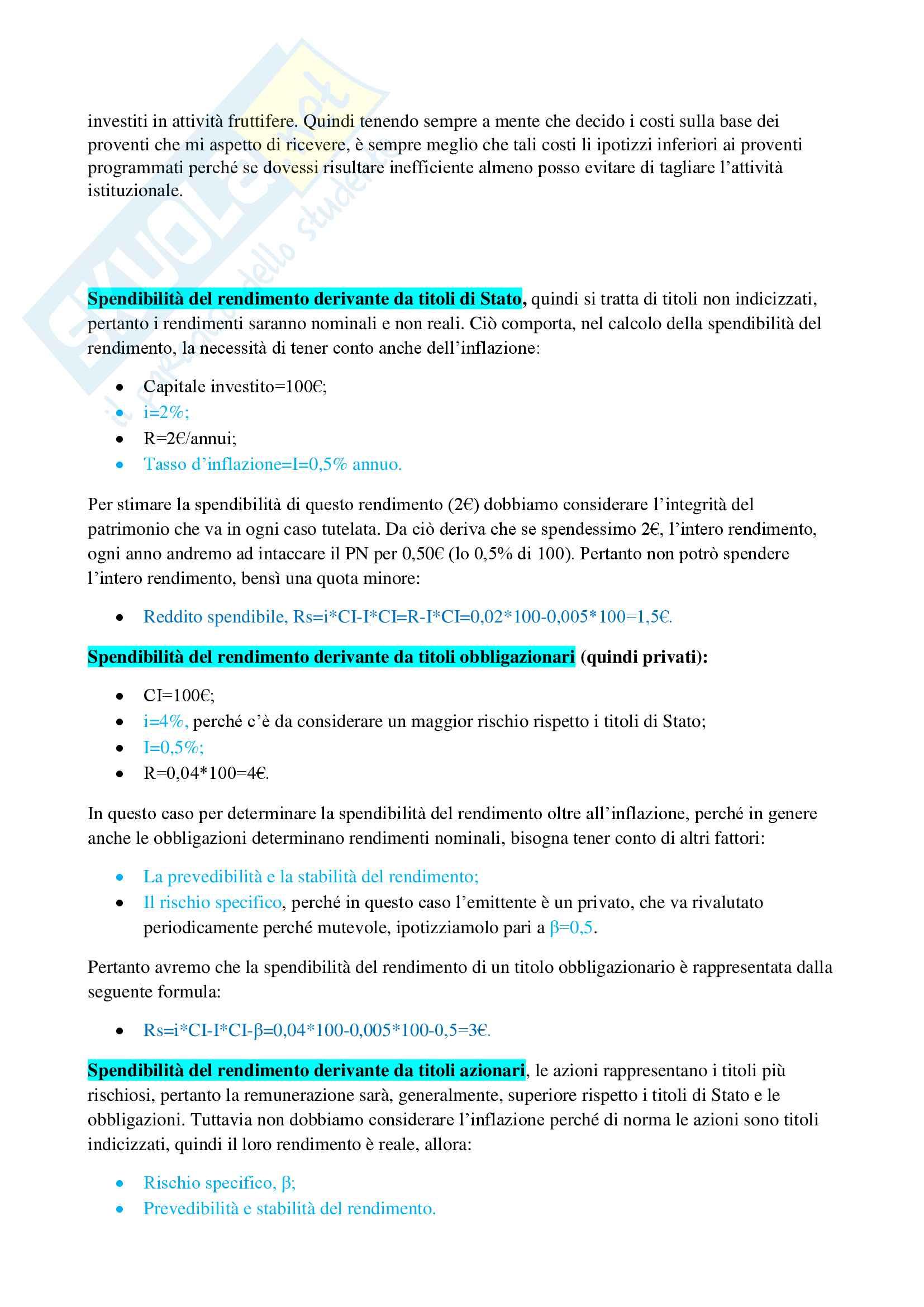 Esercizi di economia delle aziende non profit Pag. 6