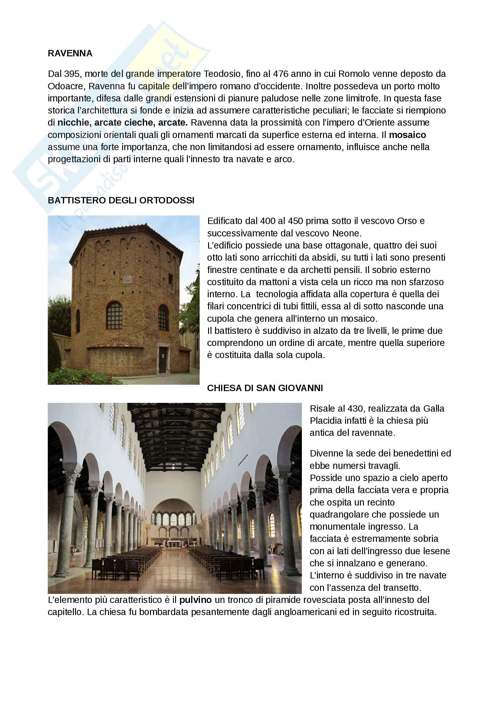 Appunti Storia Architettura - Dal Paleocristiano al Barocco