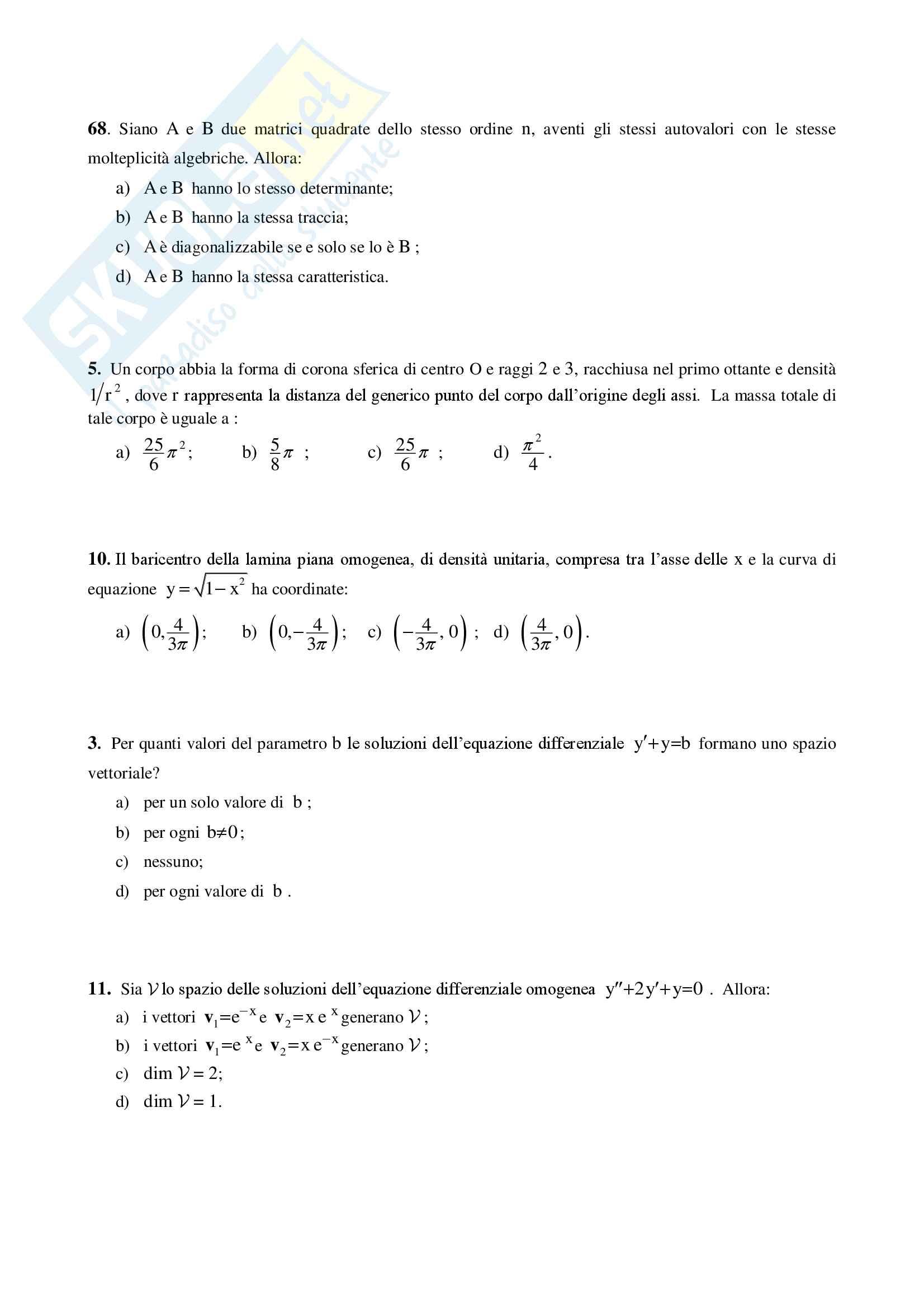 Analisi Matematica 2 e Complementi di Algebra Lineare - Temi d'Esame svolti Pag. 31
