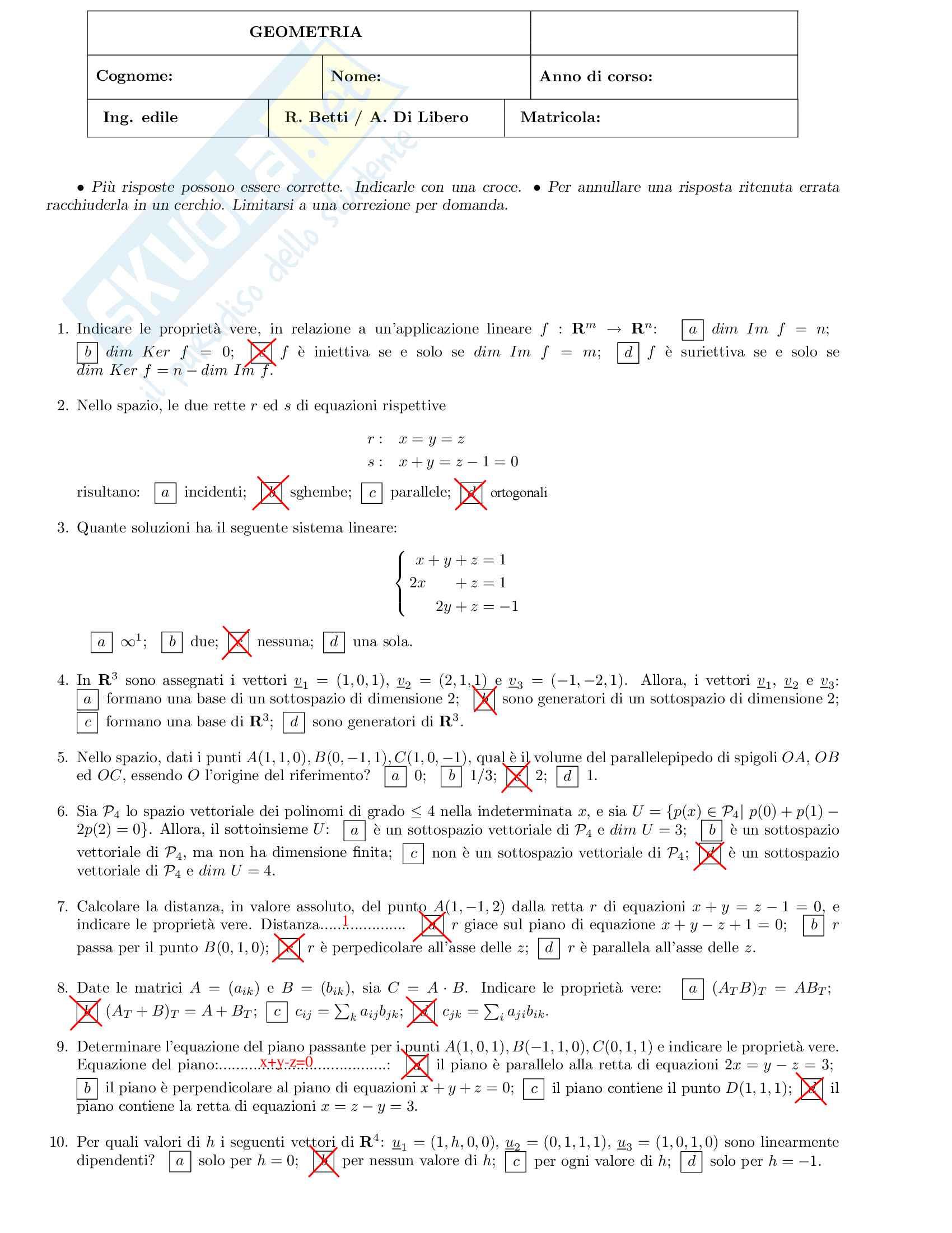 Analisi Matematica 2 e Complementi di Algebra Lineare - Temi d'Esame svolti Pag. 6