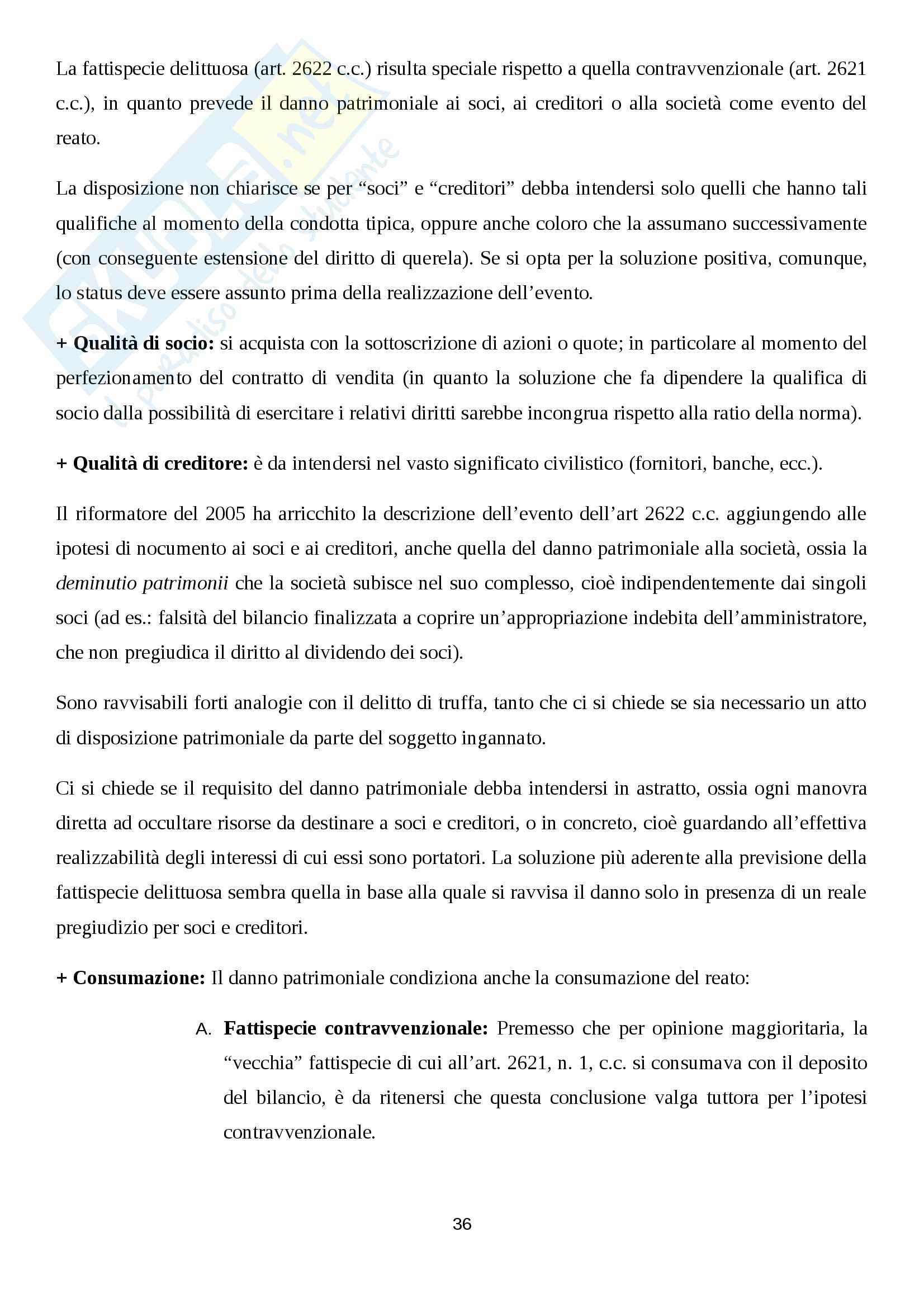 Diritto penale societario Pag. 36