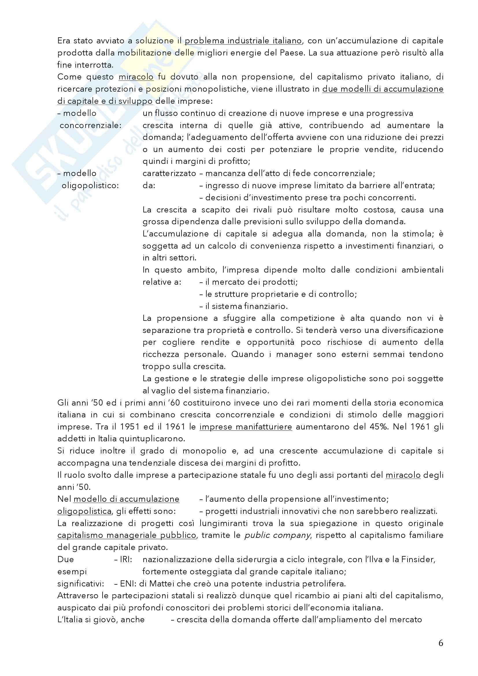 Riassunto esame Storia dell'Industria, prof. Cafarelli, libro consigliato Miracolo e Declino, Nardozzi Pag. 6