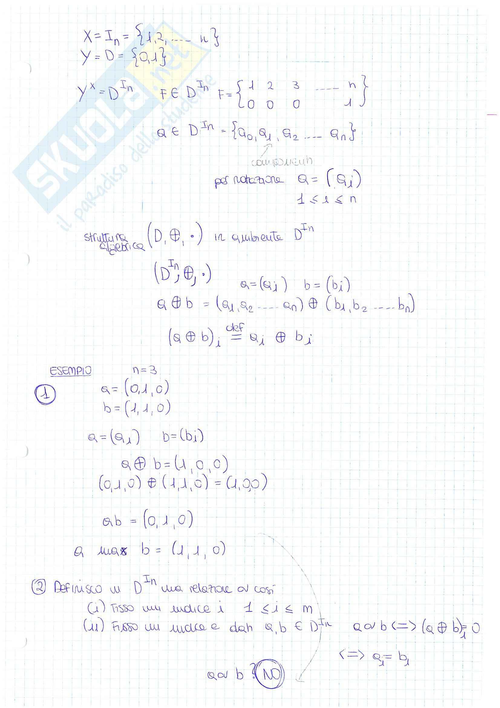 Lezioni ed esercitazioni, Algebra 1 Pag. 31