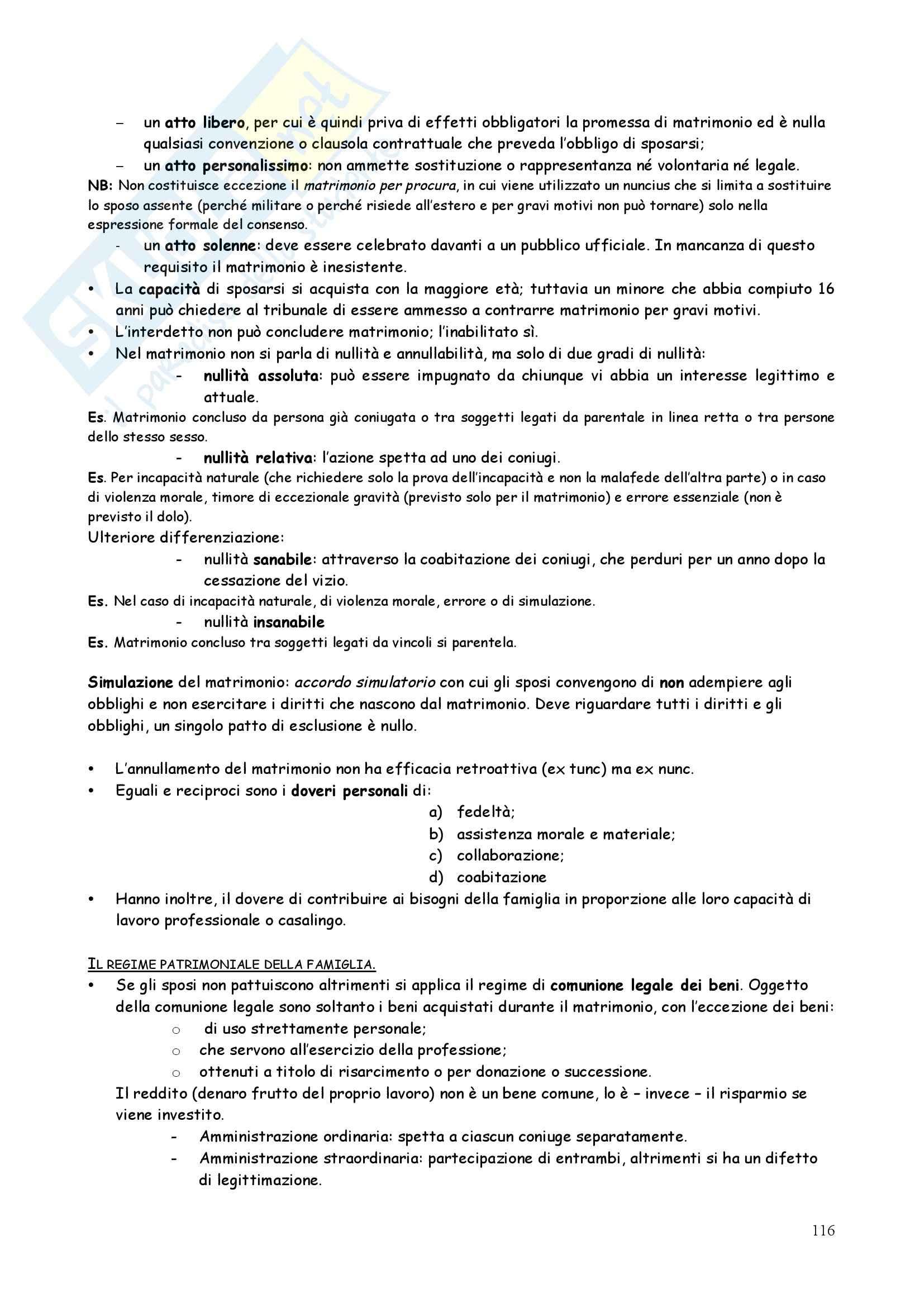 Riassunto esame Diritto privato, prof. Iudica, libro consigliato Linguaggi di diritto privato, Zatti Pag. 116