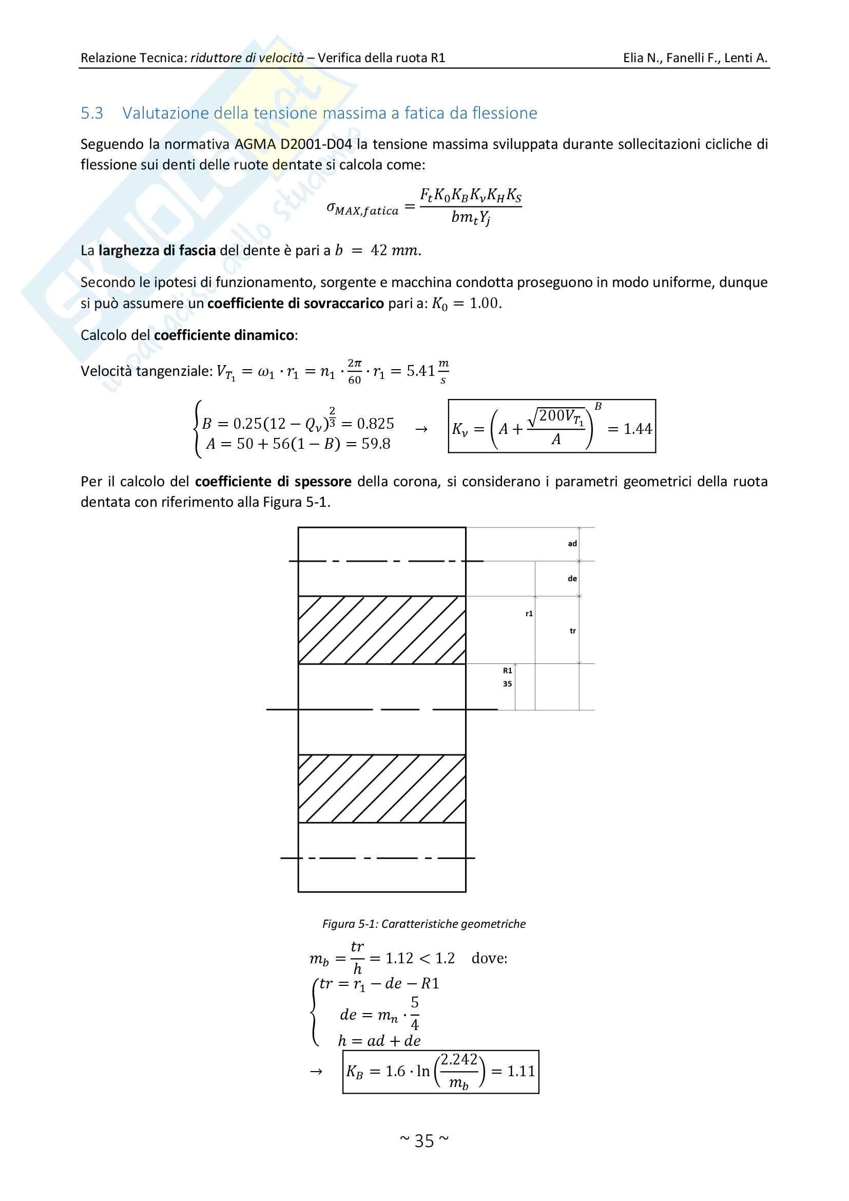Relazione Tecnica Perfetta, Costruzione di Macchine, Berruti, Brusa Pag. 36