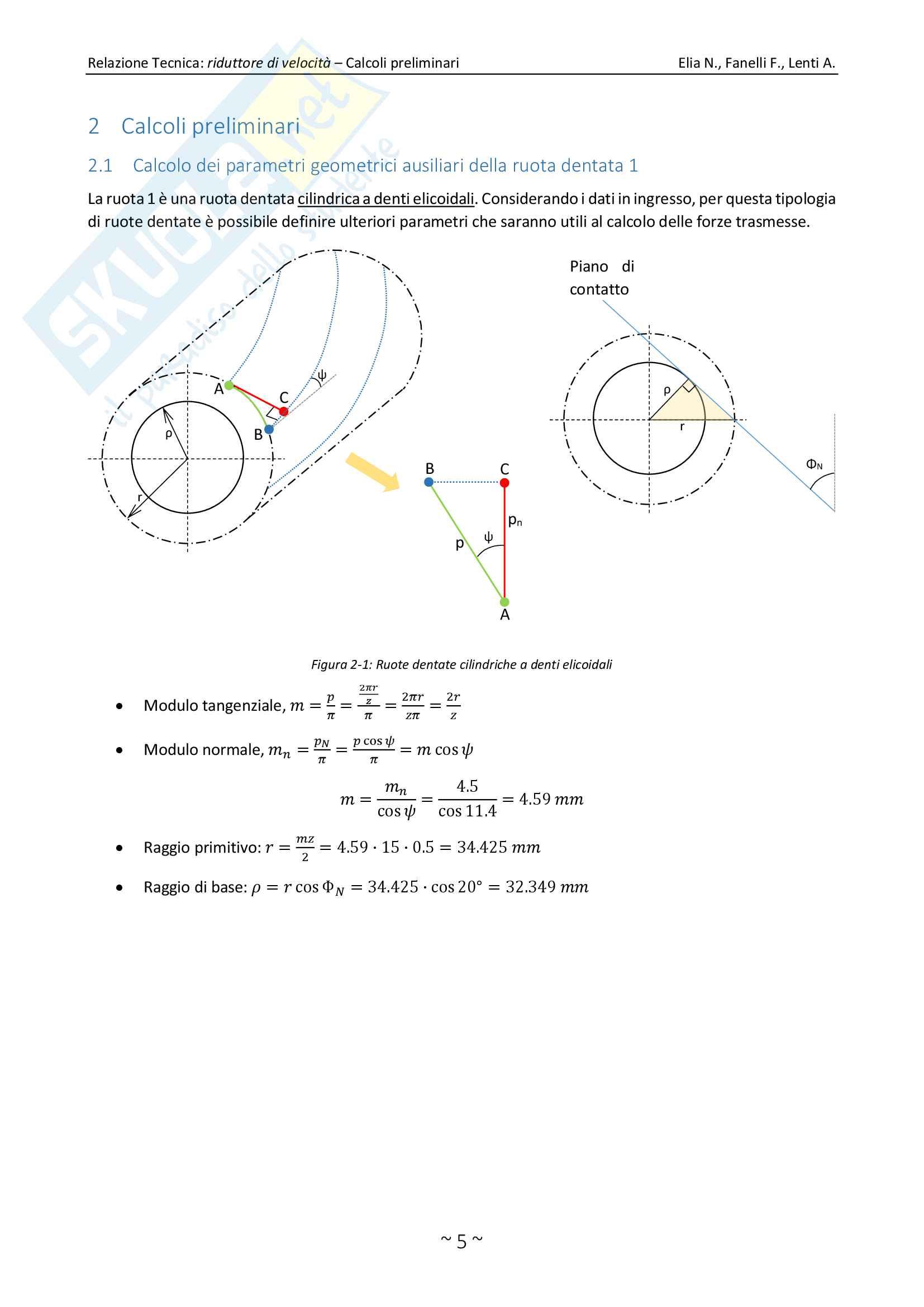 Relazione Tecnica Perfetta, Costruzione di Macchine, Berruti, Brusa Pag. 6