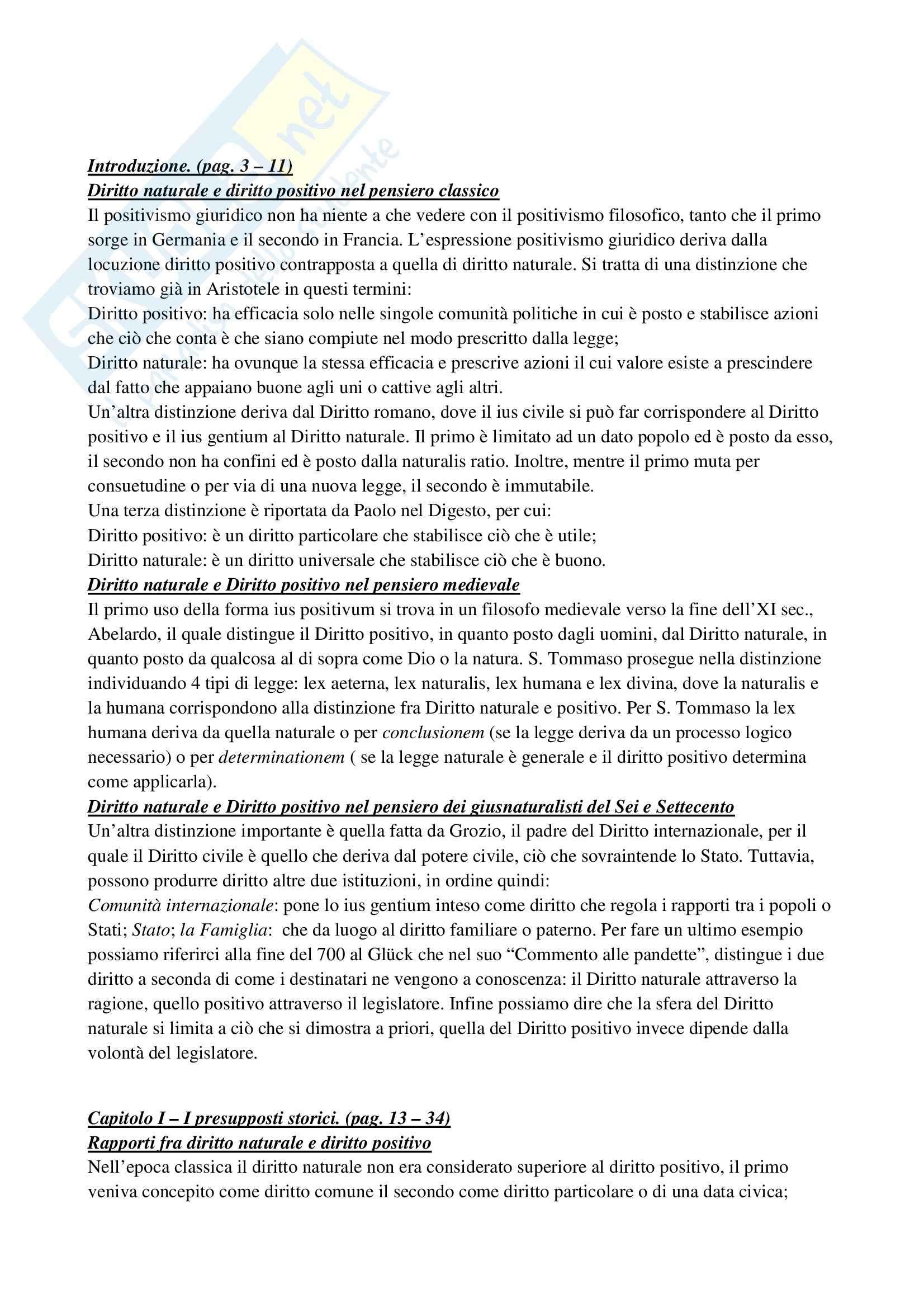 Riassunto esame Introduzione alle scienze giuridiche, prof. Giordano, libro consigliato Il Positivismo giuridico, Bobbio