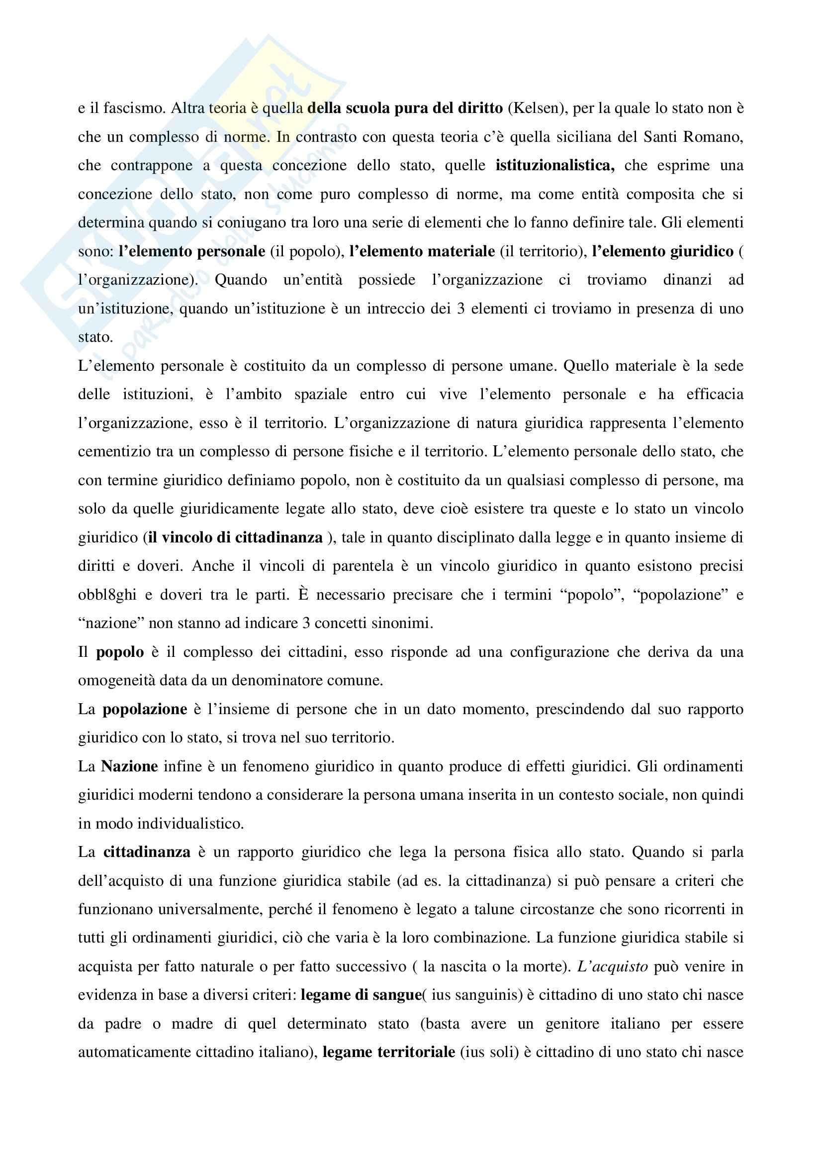 Riassunto esame Diritto pubblico, prof. Salerno, libro consigliato Diritto pubblico, Martines Pag. 2