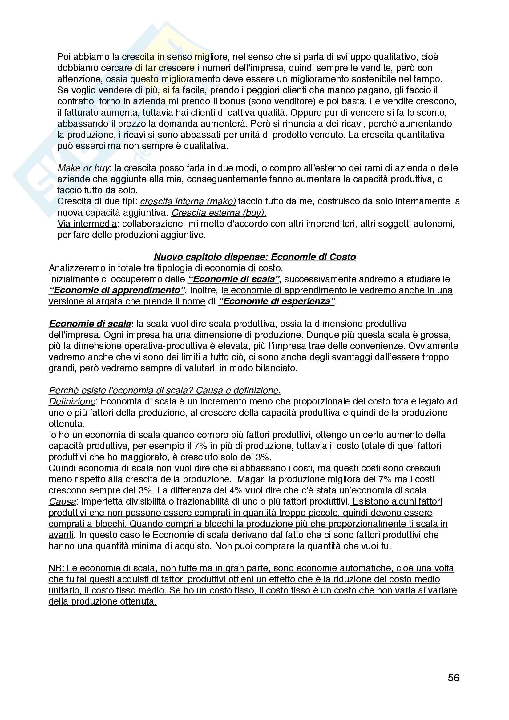 Riassunto esame Economia e Gestione delle Imprese - Corrado Gatti Pag. 56