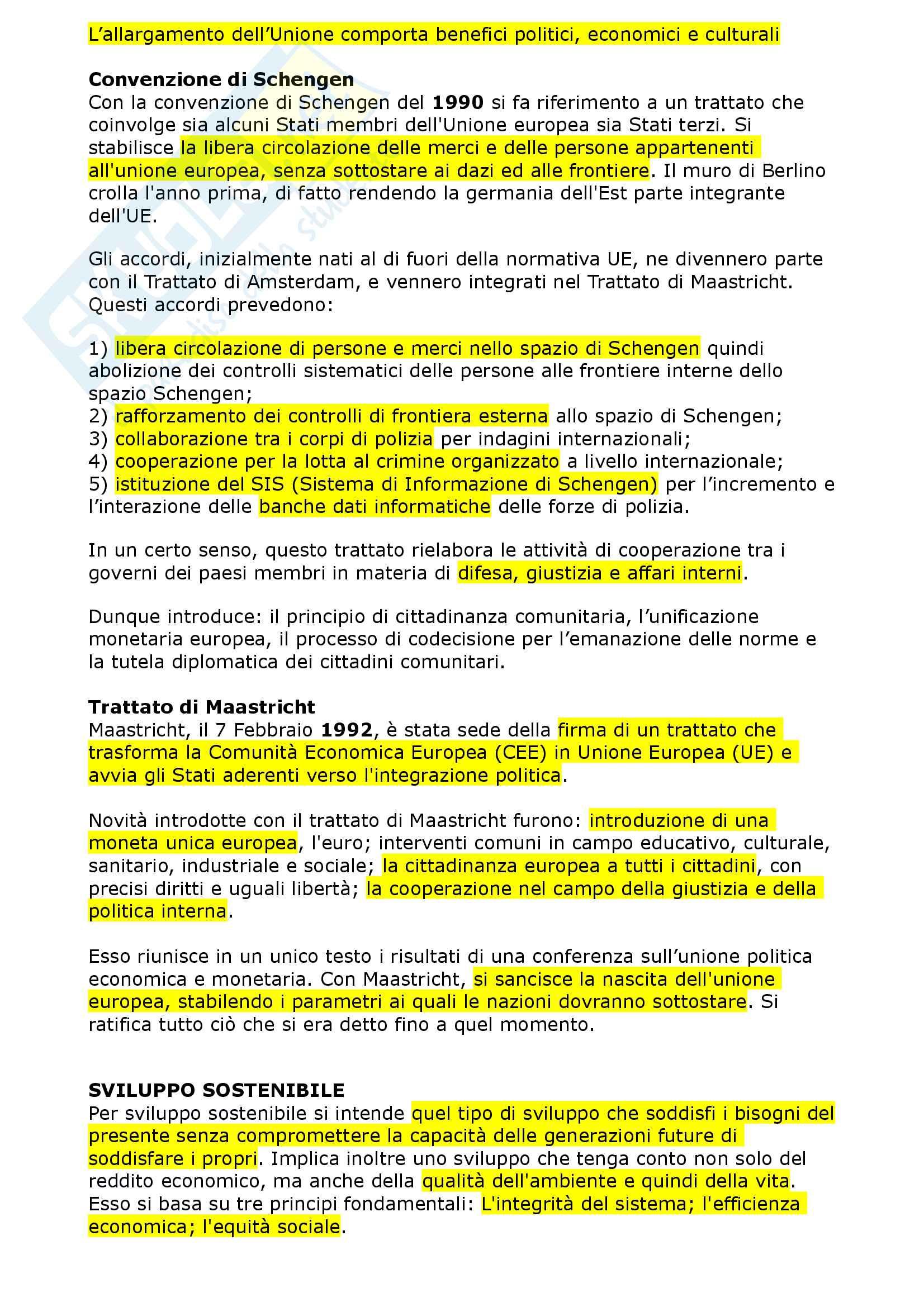Geografia dell'Unione Europea - riassunto esame Pag. 2
