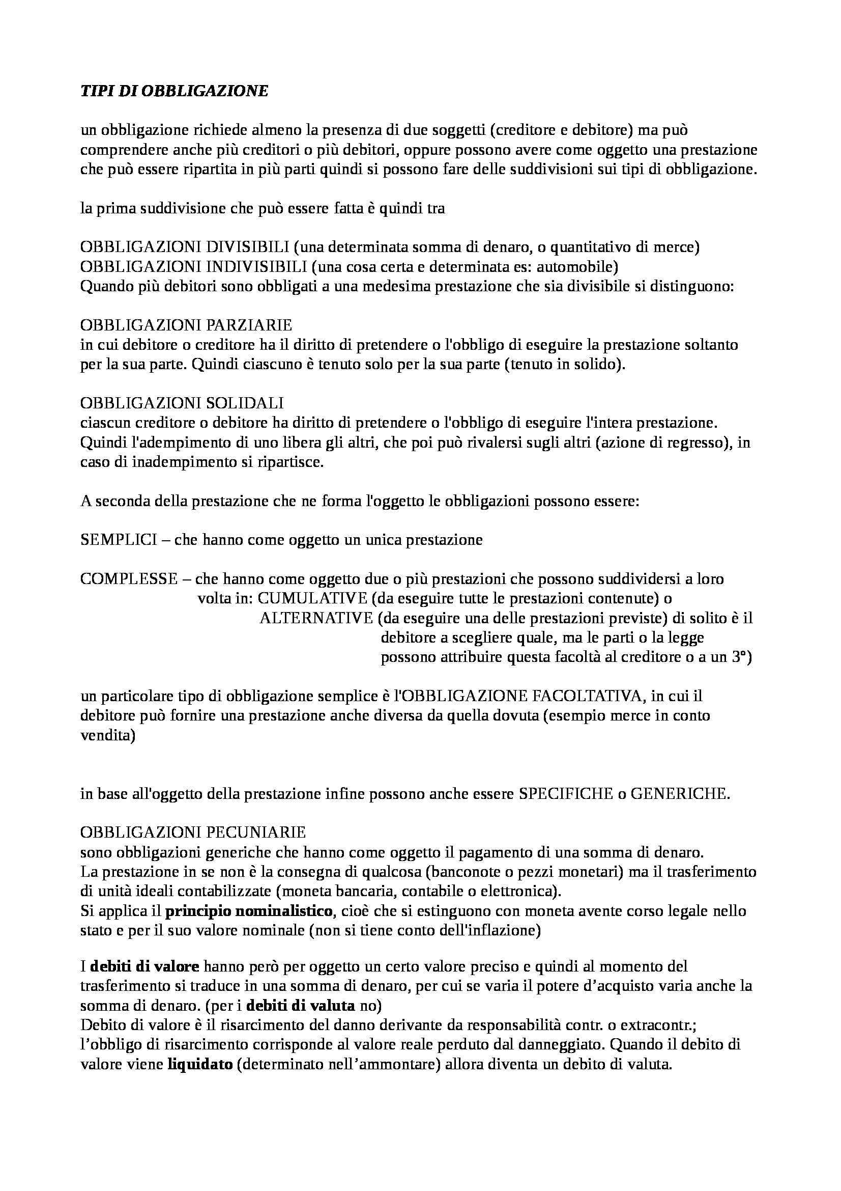 Diritto privato - Obbligazioni Pag. 2