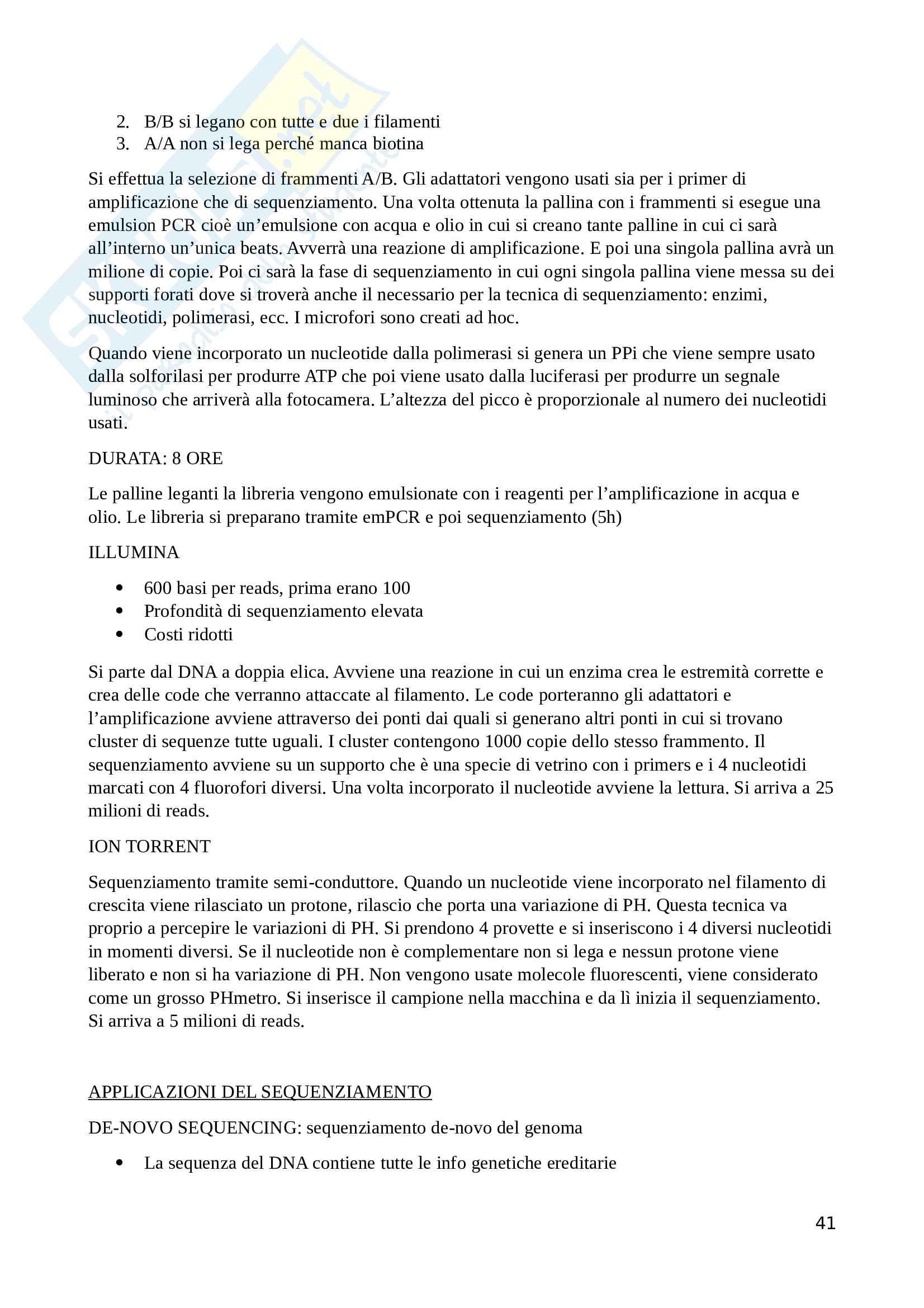 Ecologia del microbiota umano ed elementi di metagenomica Pag. 41