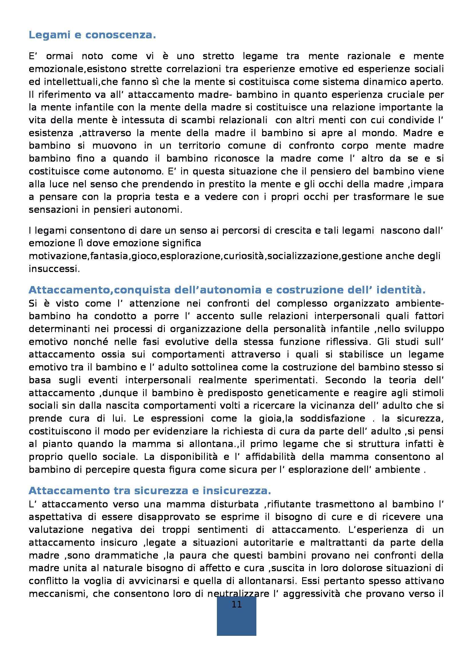Riassunto esame Didattica generale, prof. Isidori, libro consigliato La scuola dell'infanzia, Frabboni Pag. 11