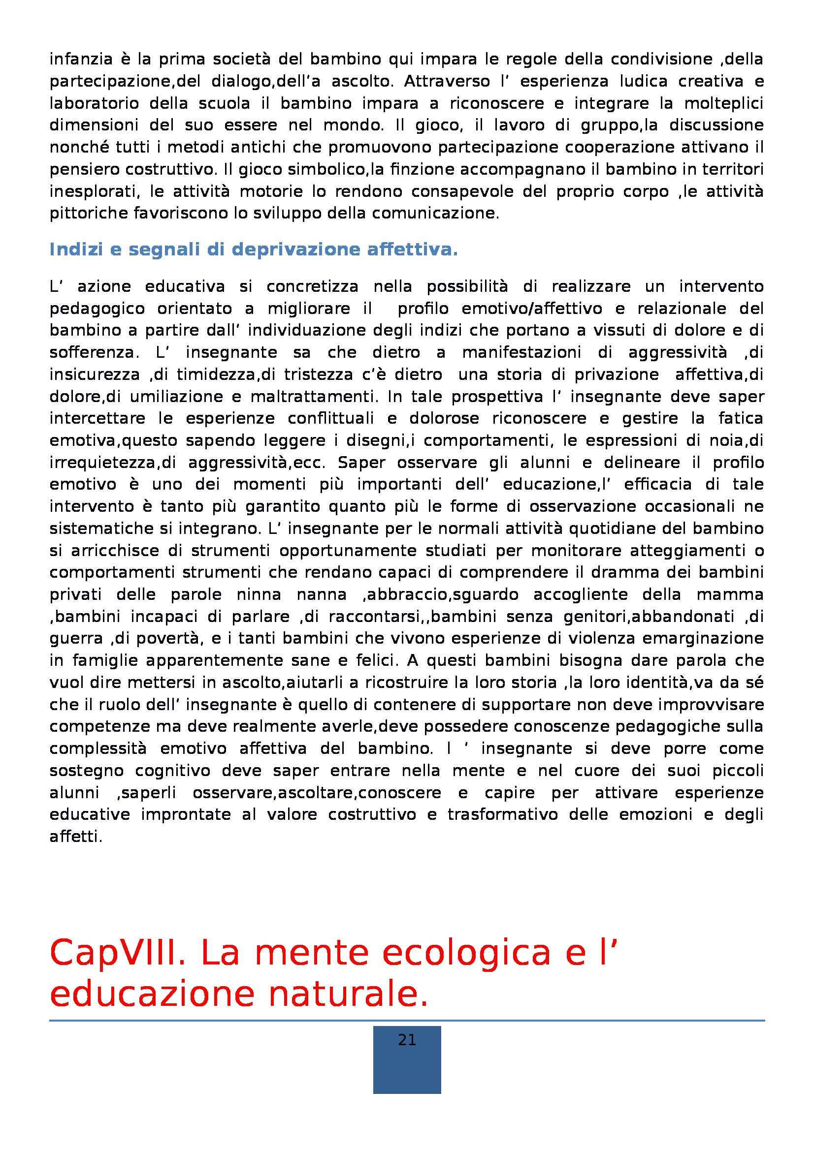 Riassunto esame Didattica generale, prof. Isidori, libro consigliato La scuola dell'infanzia, Frabboni Pag. 21