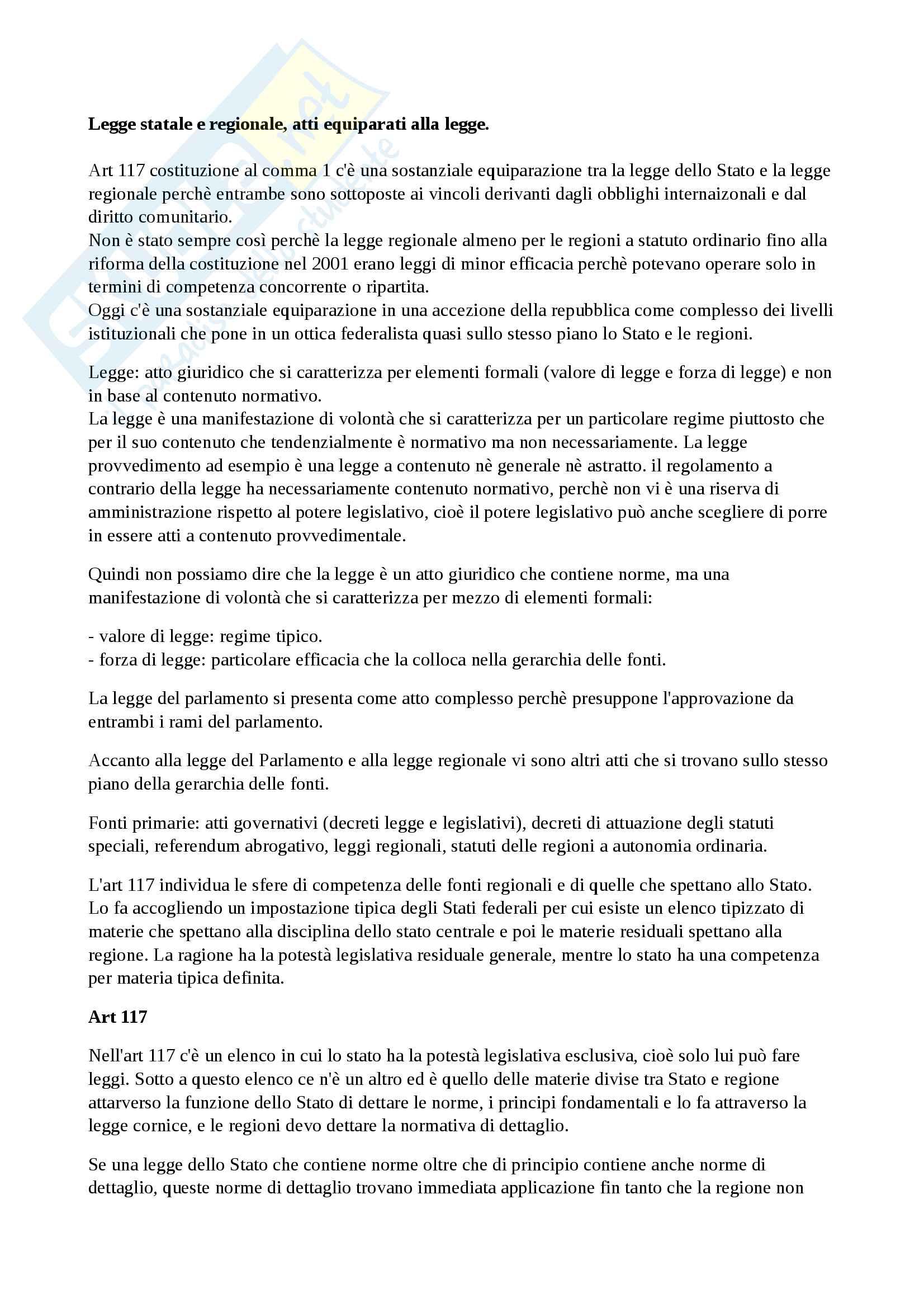 appunto M. Galdi Diritto pubblico
