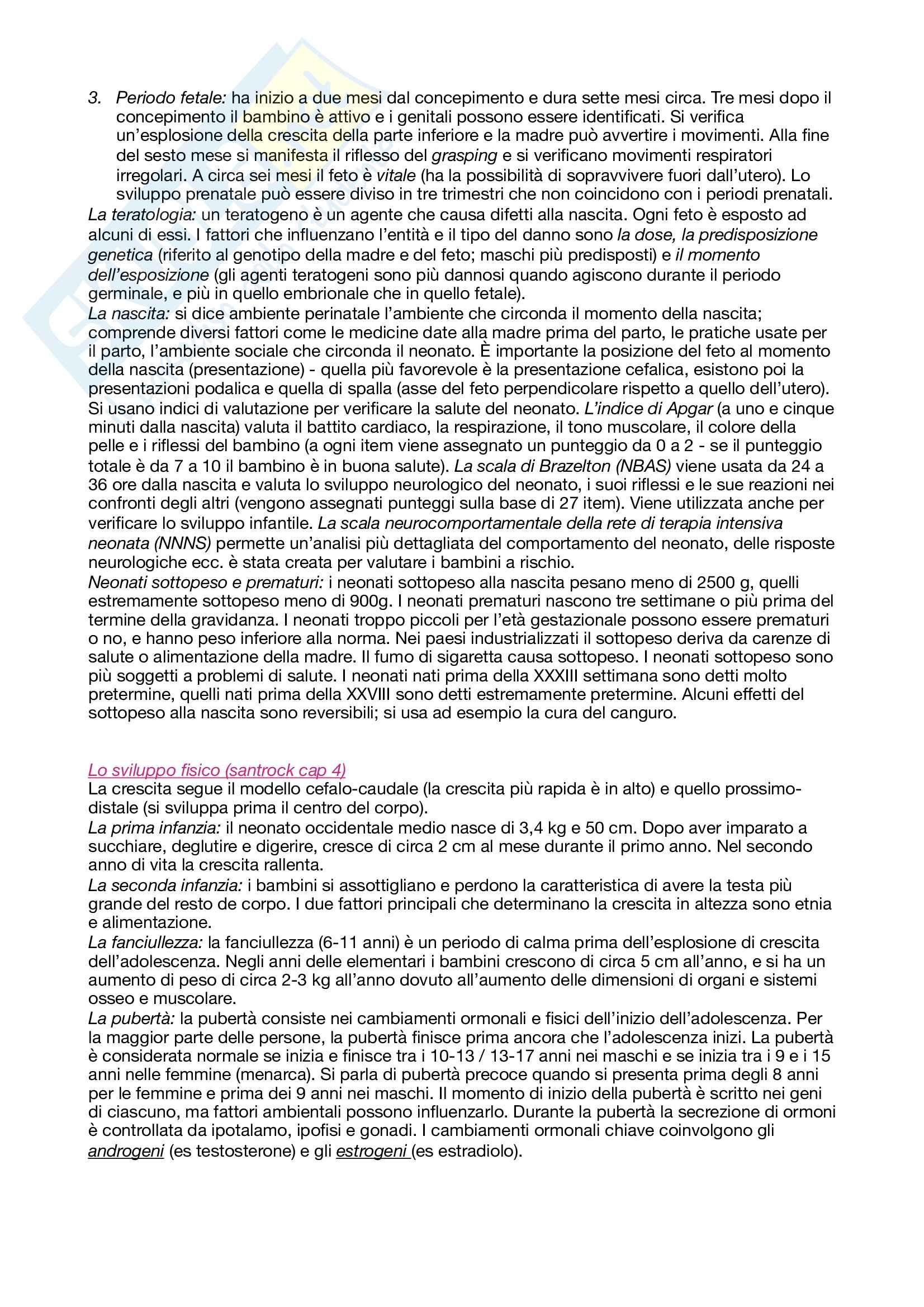 Psicologia dello sviluppo: appunti completi Pag. 2