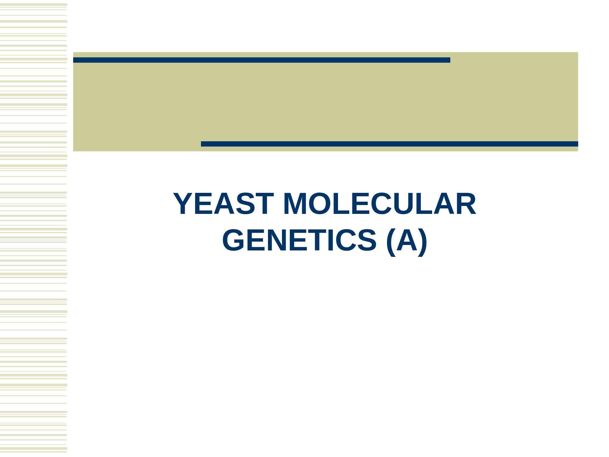 genetica molecolare dei lieviti Pag. 1