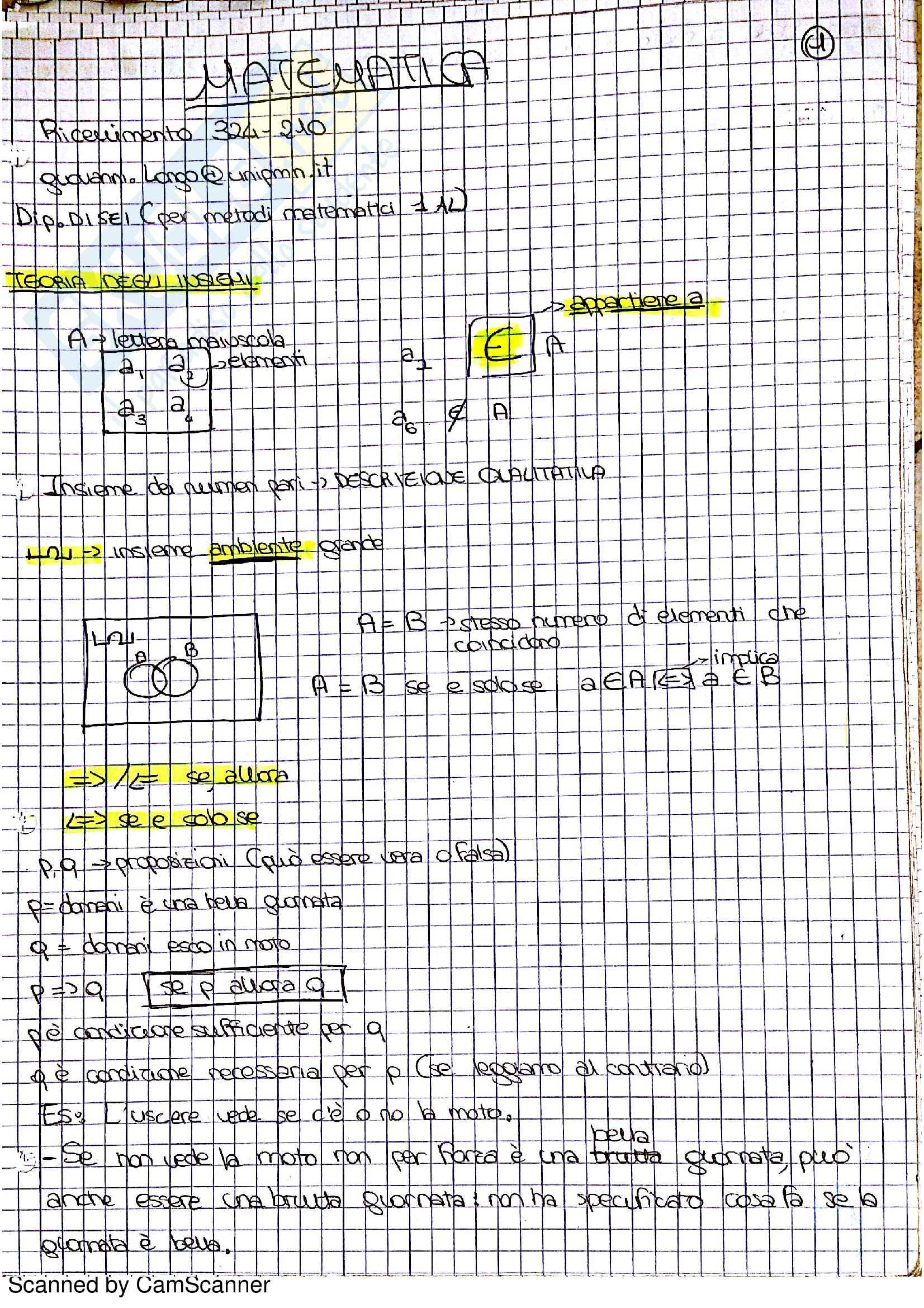 Metodi matematici I