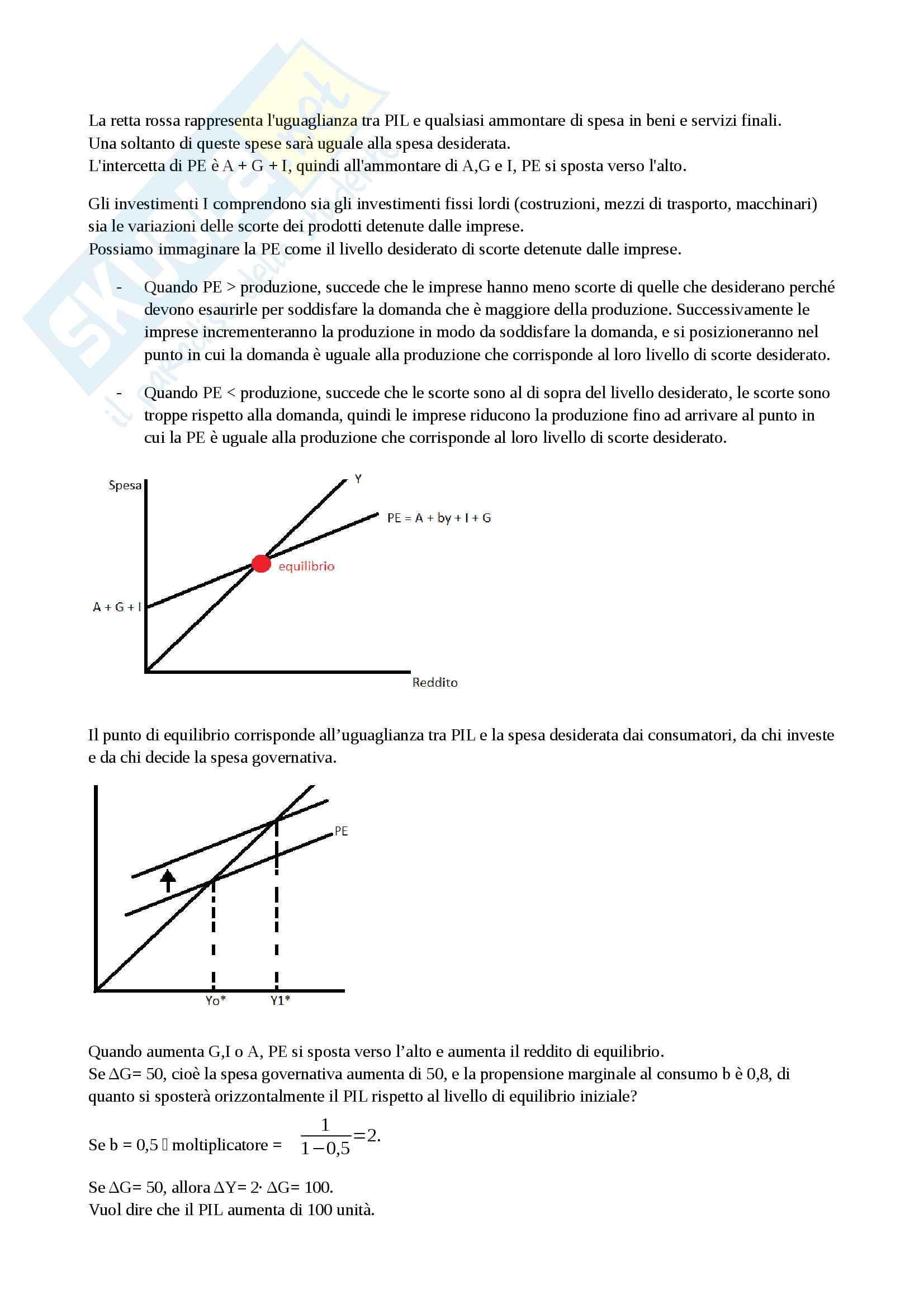 Crescita economica, cicli economici, moneta, politica fiscale e monetaria, economia aperta, disoccupazione - Macroeconomia Pag. 11
