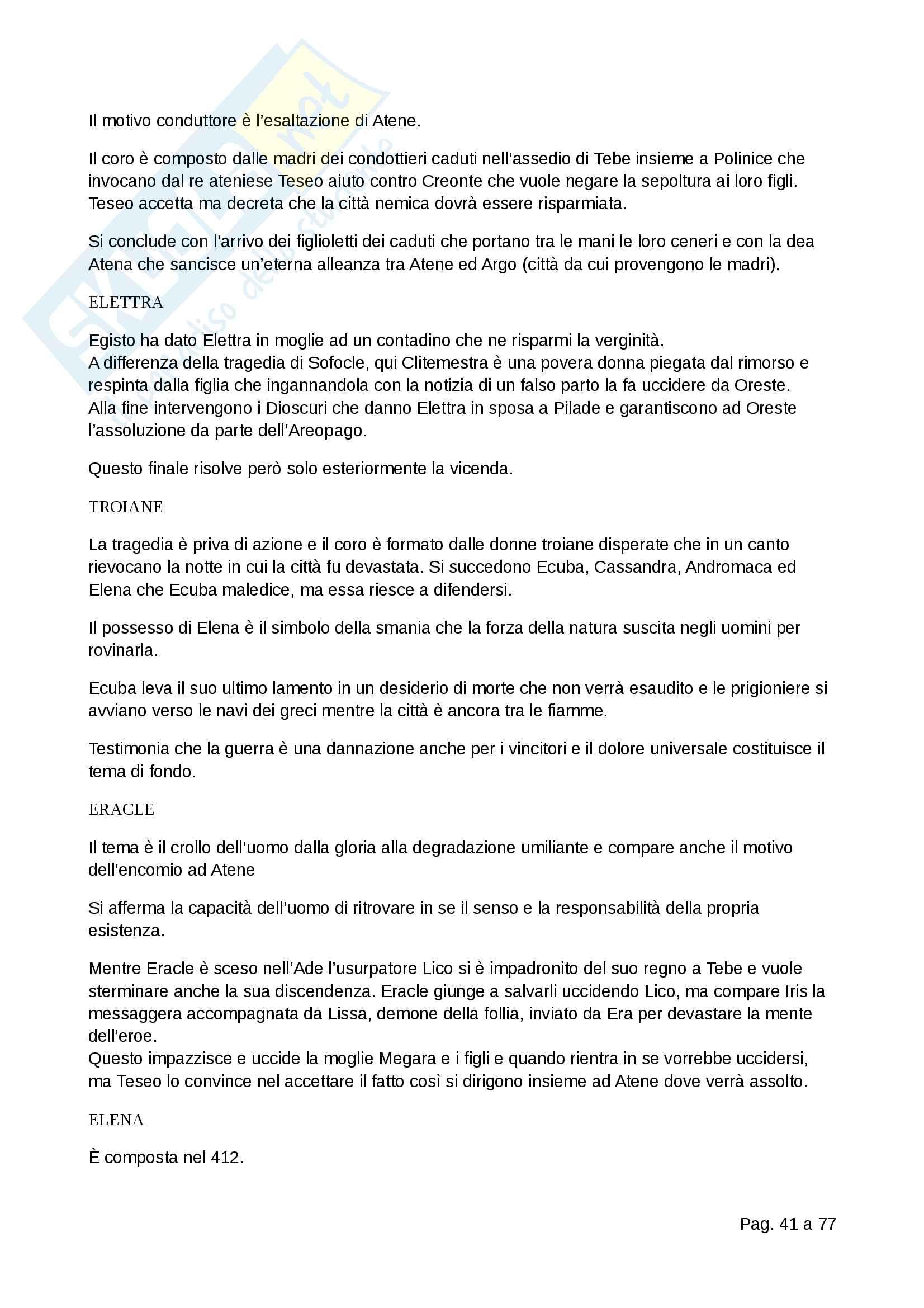 Letteratura greca Pag. 41
