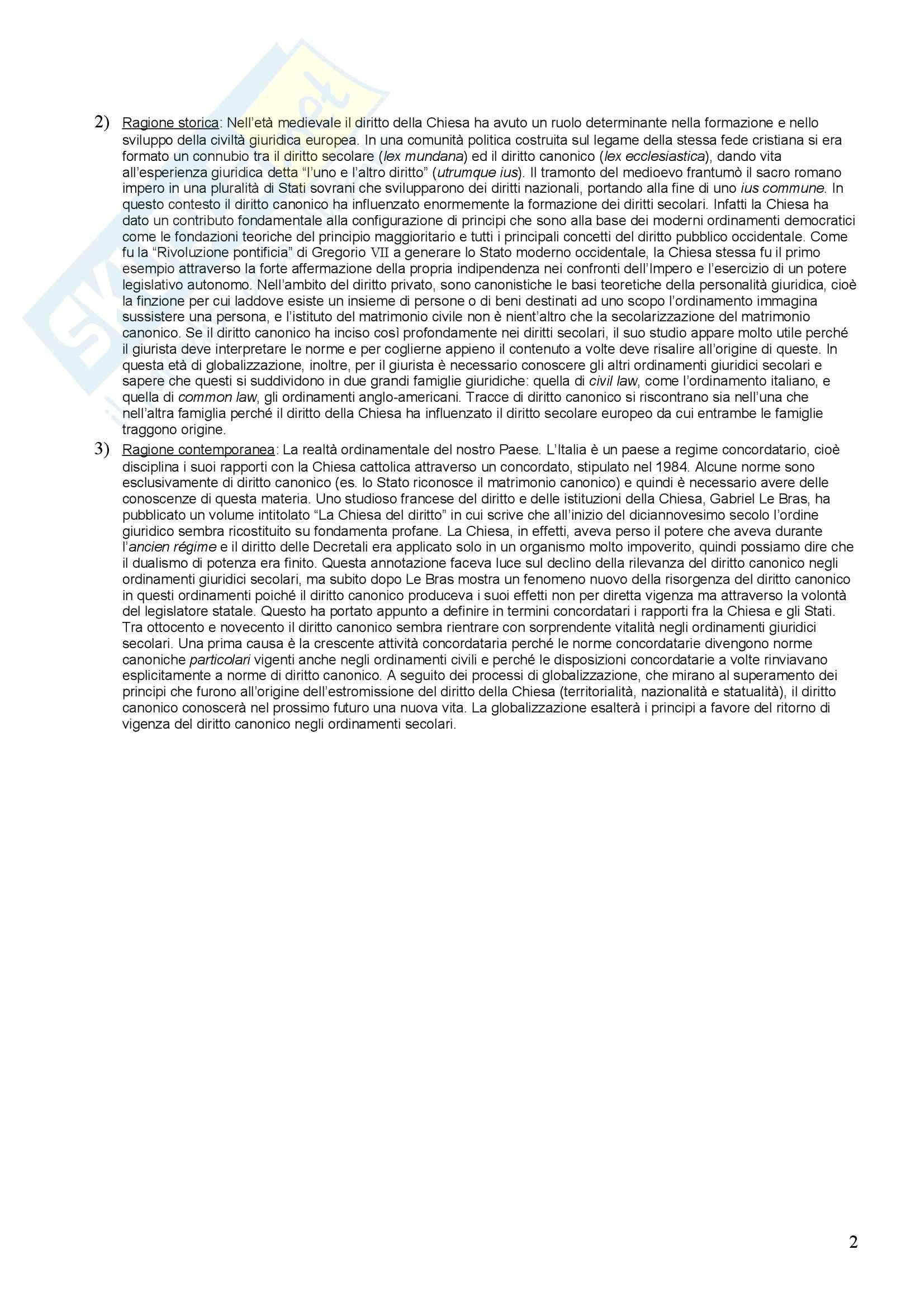 Diritto canonico - Riassunto esame Pag. 2