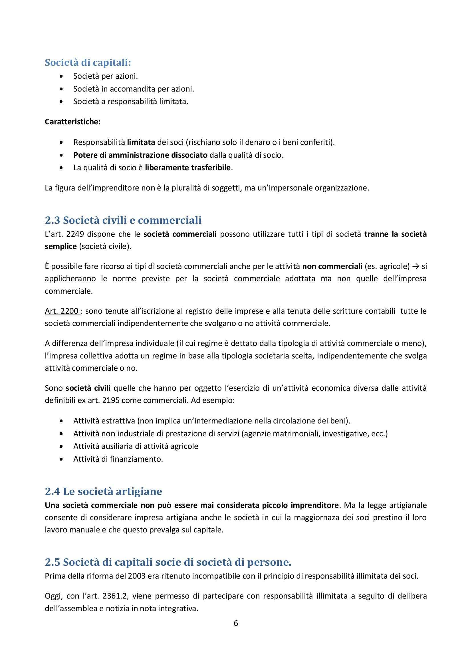 Diritto Commerciale - società Pag. 6