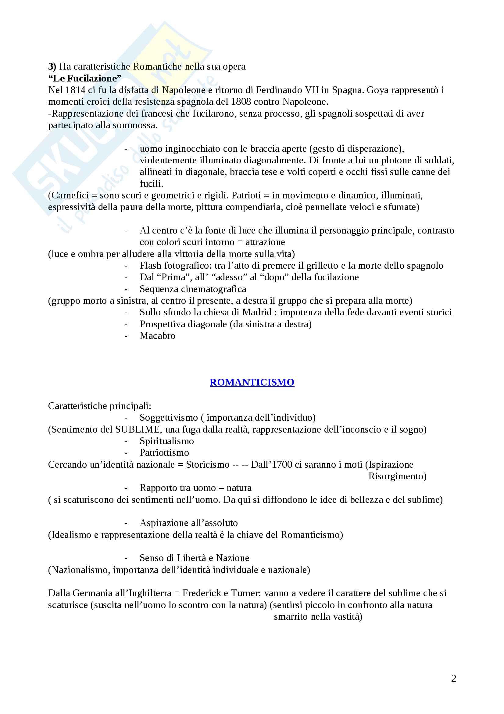 Arte - Romanticismo, Preraffaelliti, Barbizon, Realismo, Macchiaioli, Scapigliatura Pag. 2