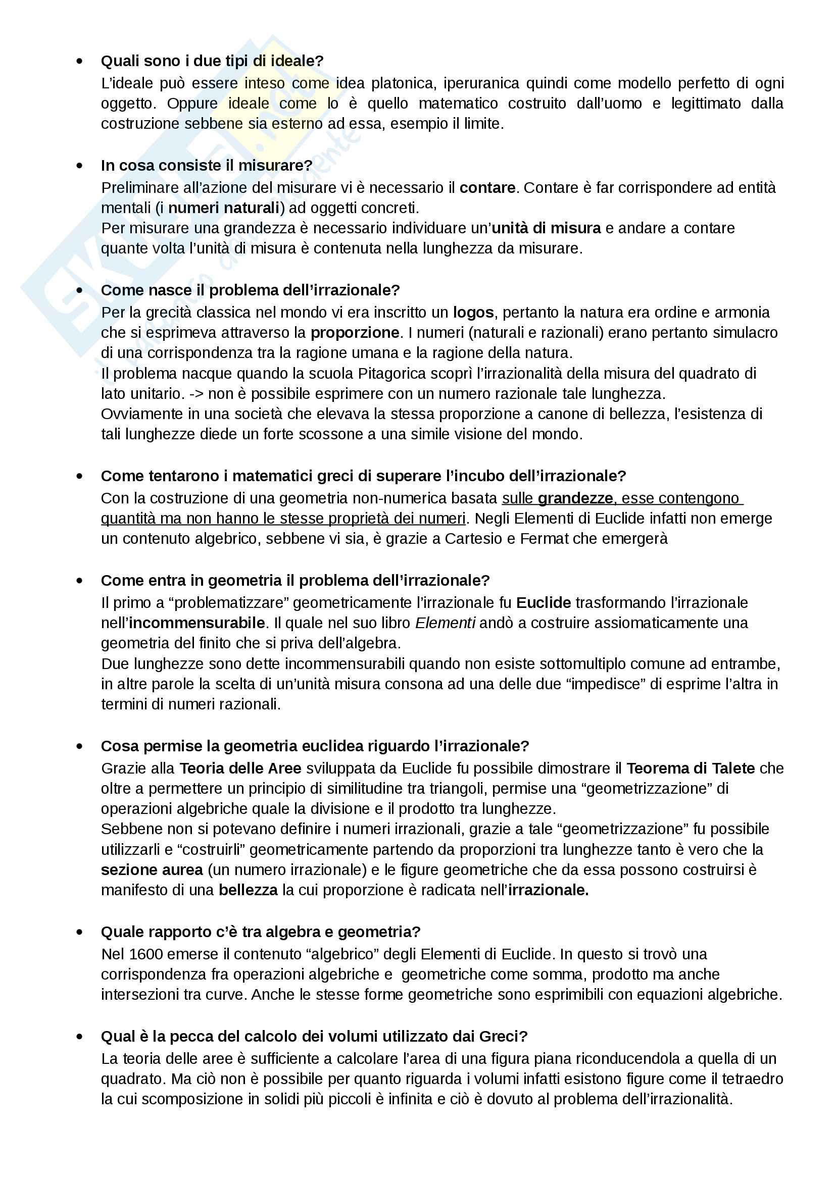Riassunto esame di Filosofia della Scienza, prof. Lupacchini