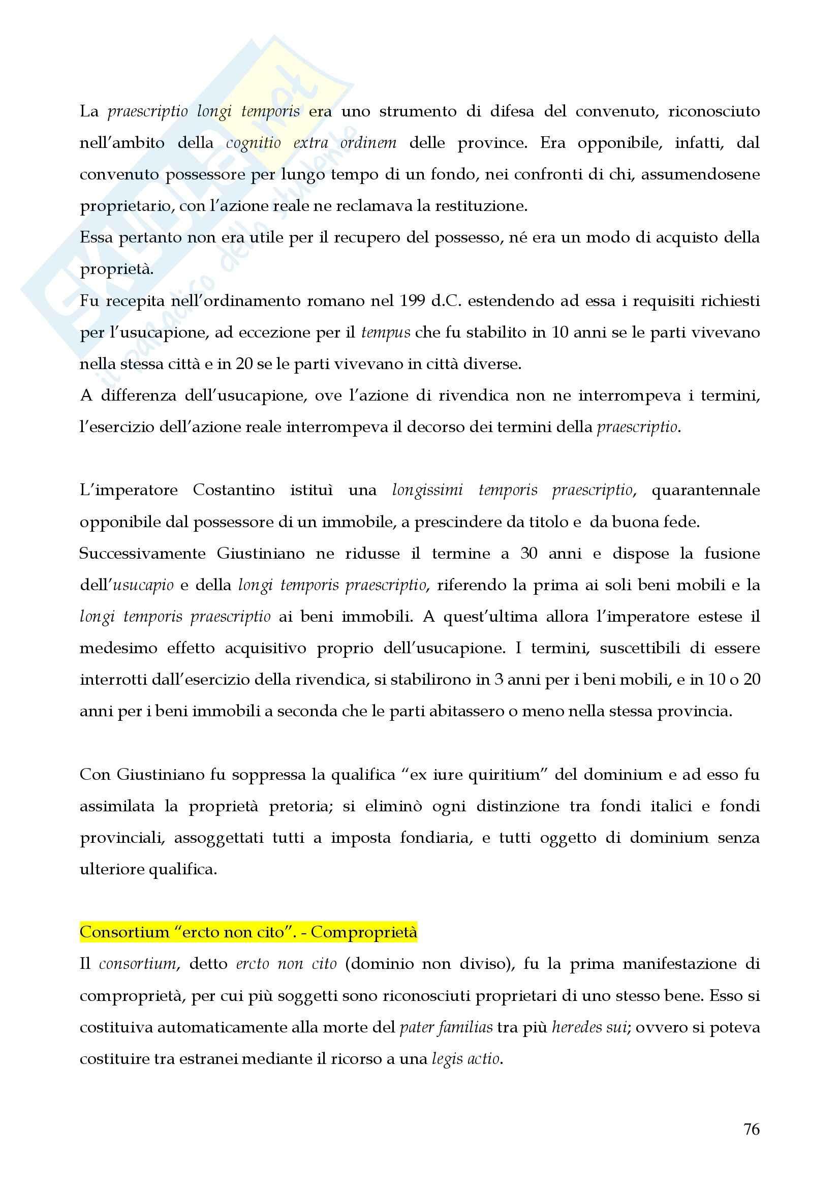 Riassunto esame istituzioni di diritto romano, prof. Miglietta, libro consigliato Istituzioni di diritto romano, Talamanca Pag. 76