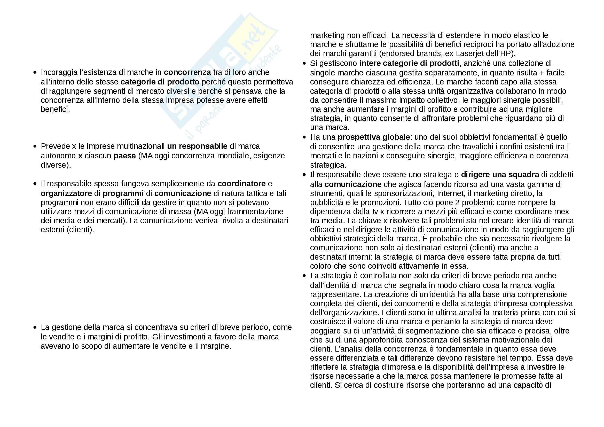 Riassunto esame Comunicazione, prof. Montel, libro consigliato Brand Leadership, Aeker Pag. 2