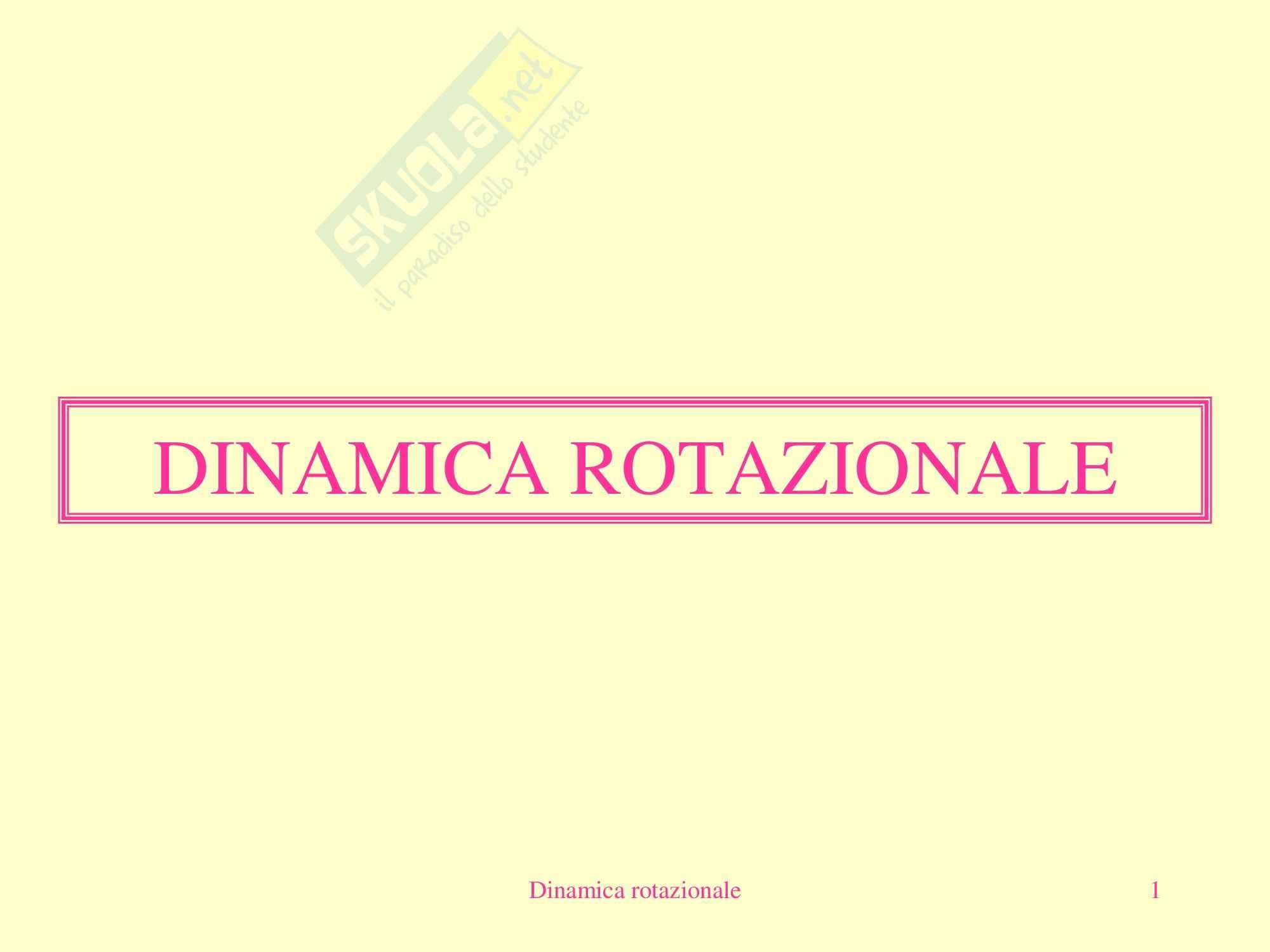 Fisica Medica - Dinamica Rotazionale