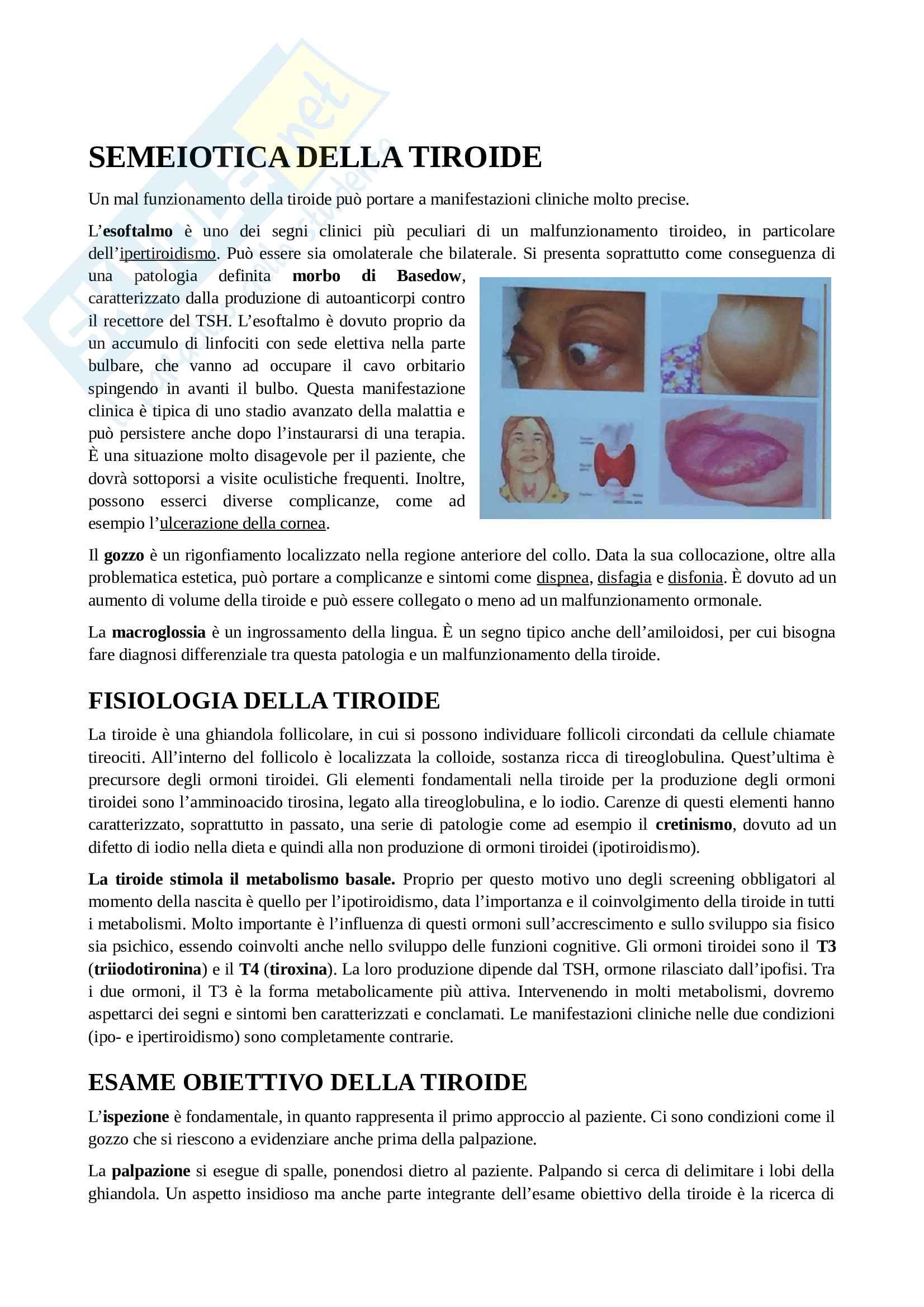 Semeiotica della tiroide