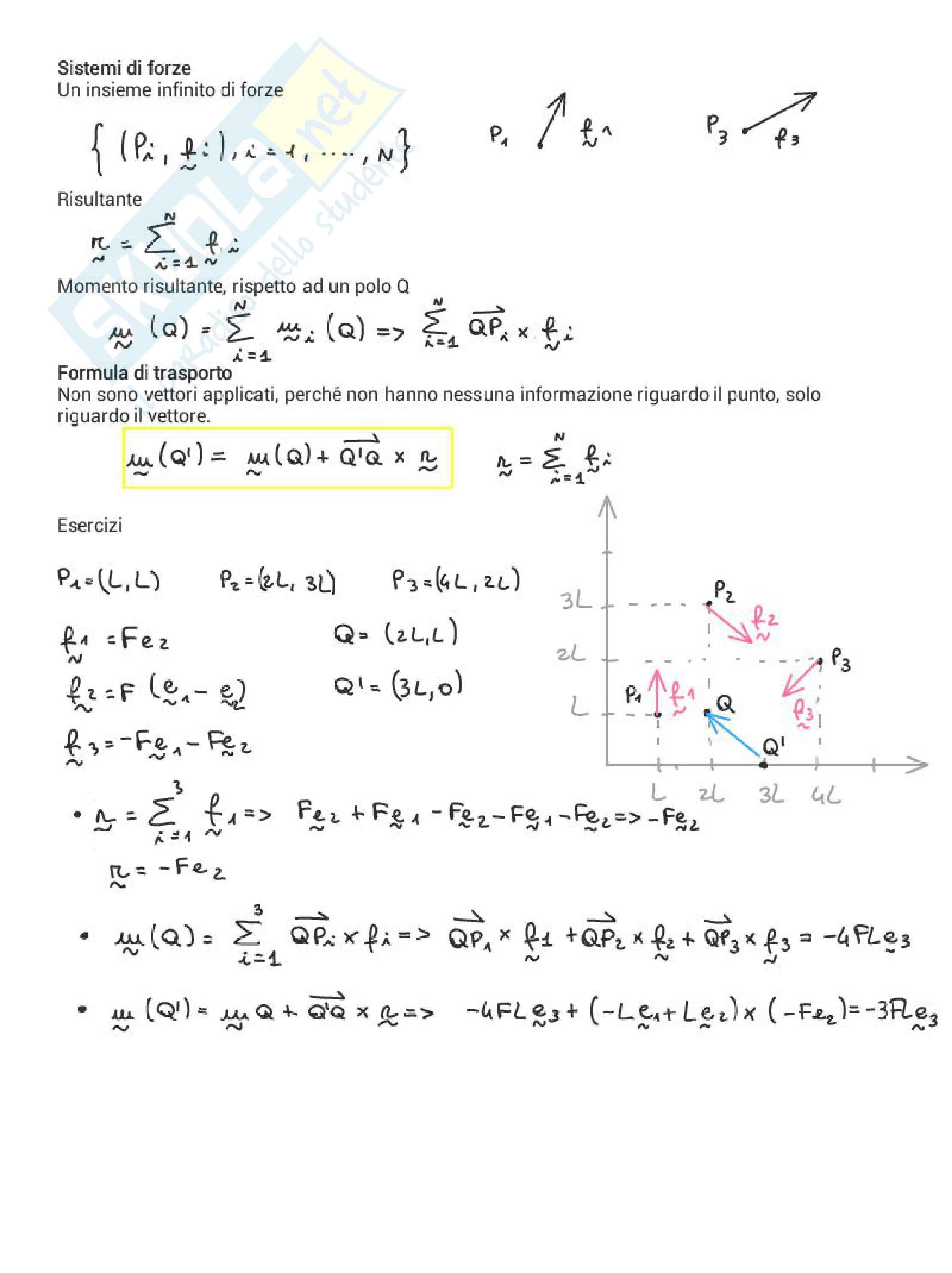 Meccanica delle strutture / statica Pag. 11