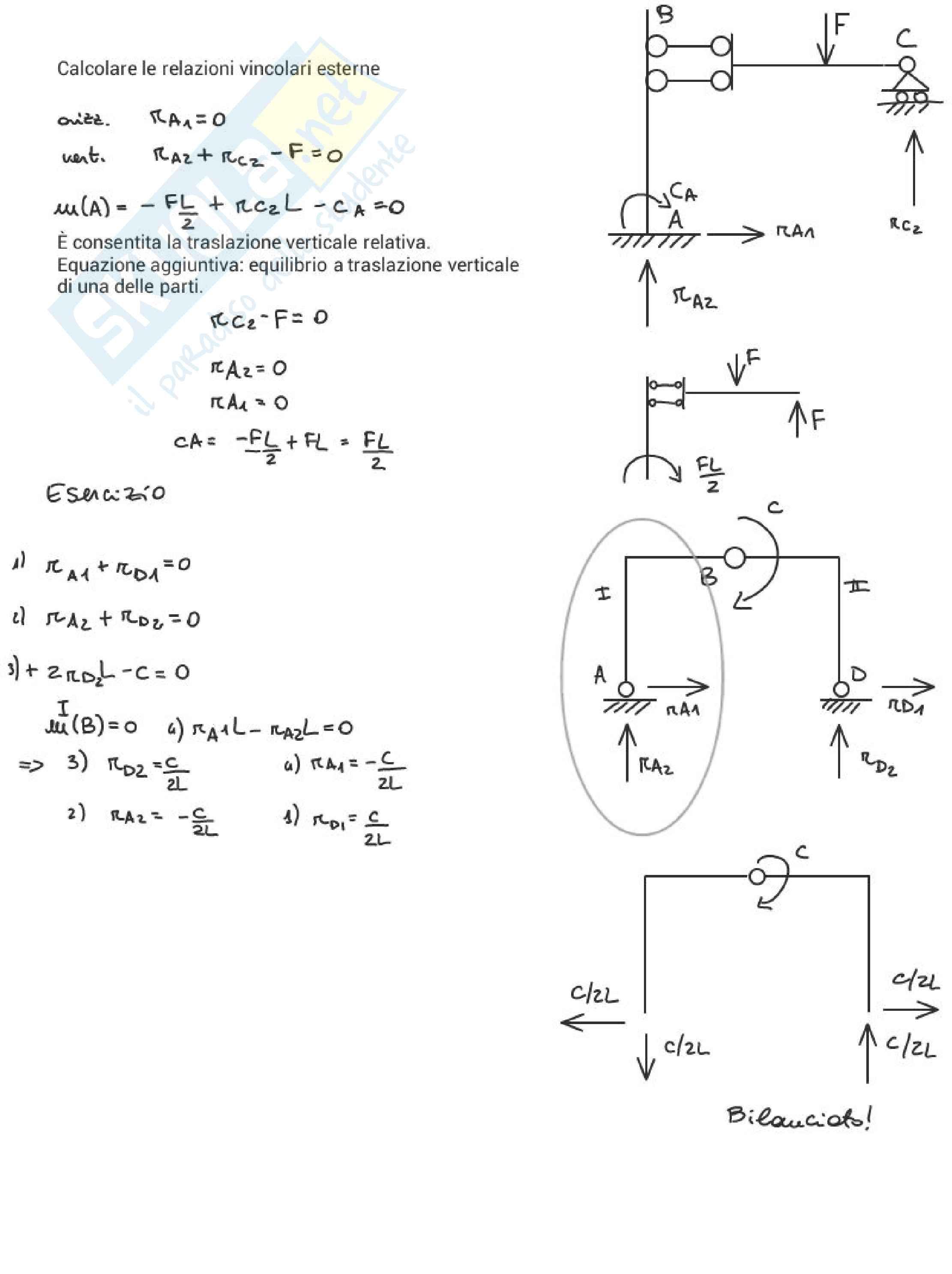 Meccanica delle strutture / statica Pag. 36