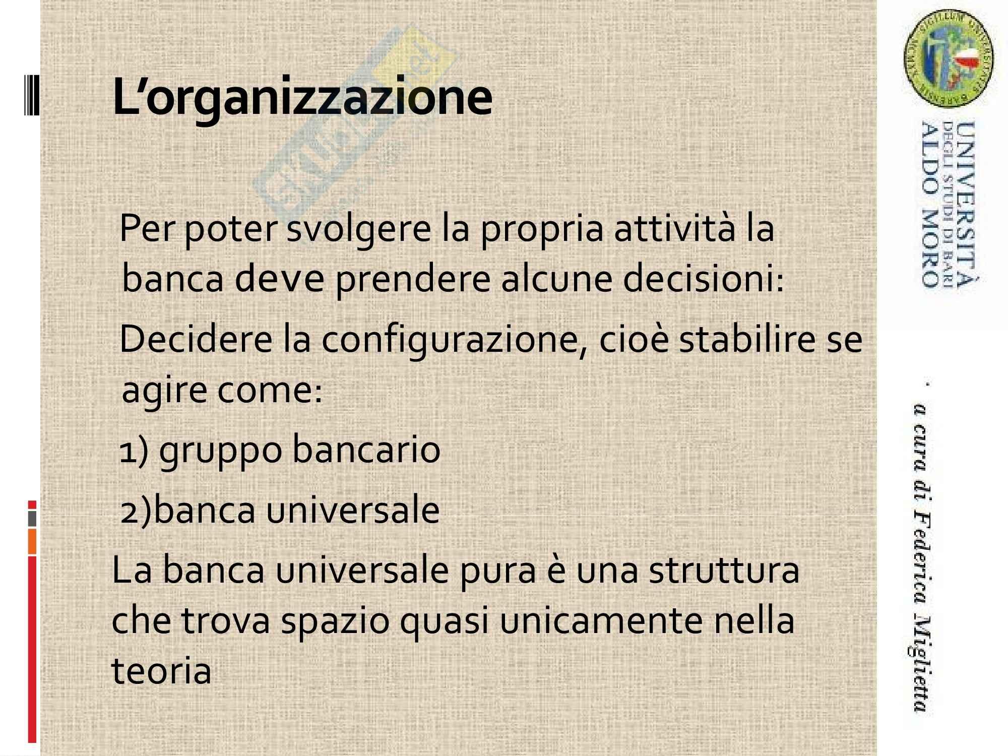 Economia degli intermediari finanziari - attività bancaria Pag. 2