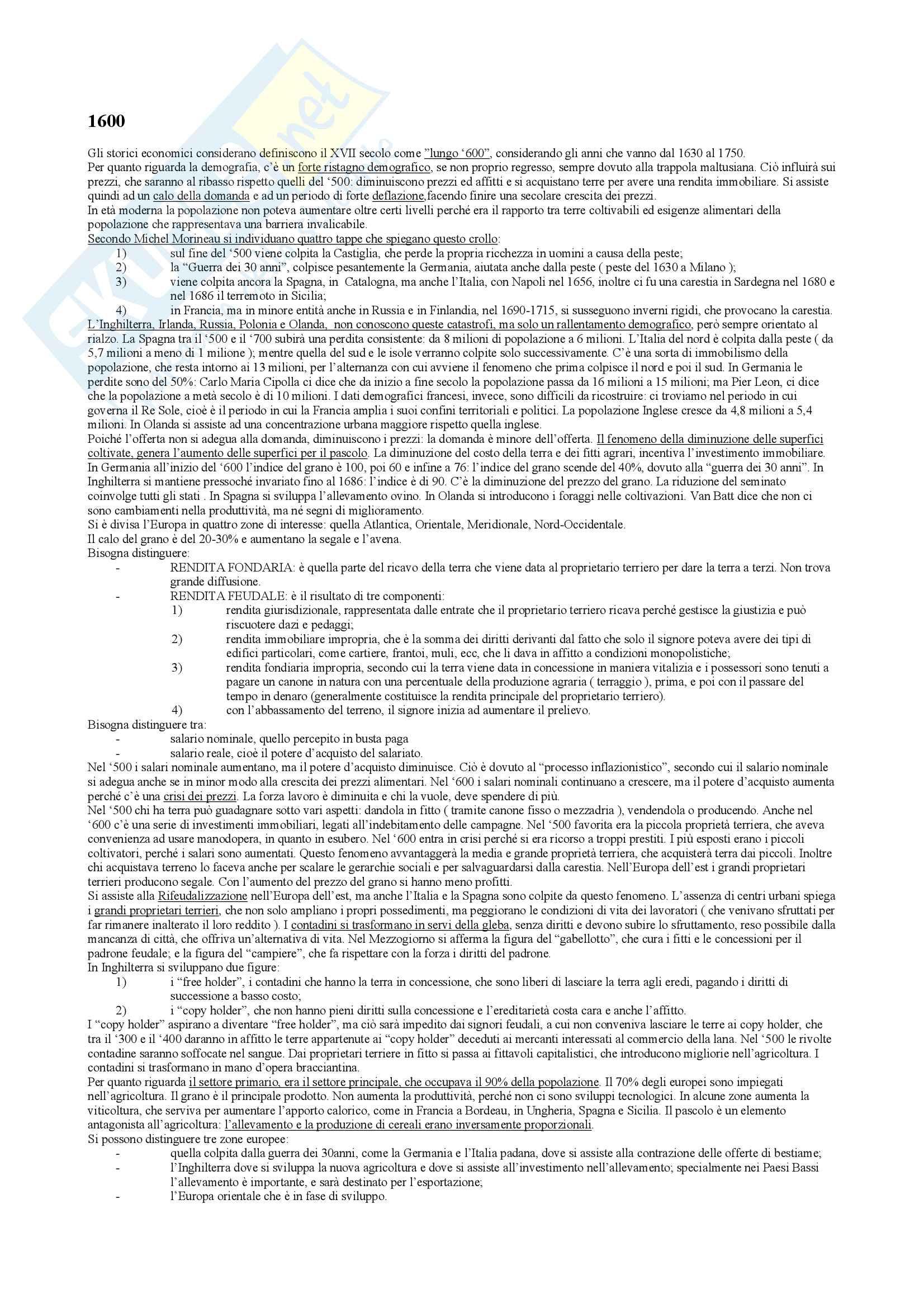 Riassunto esame Storia economica, docente Montaudo-Di Salvia, libro consigliato Dall'espansione allo sviluppo, A.A. V.V Pag. 6