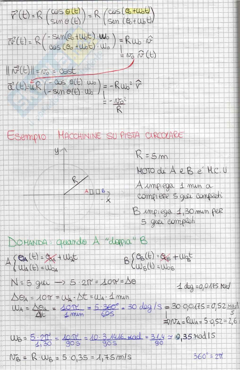 Appunti Fisica Generale sui Moti Pag. 16