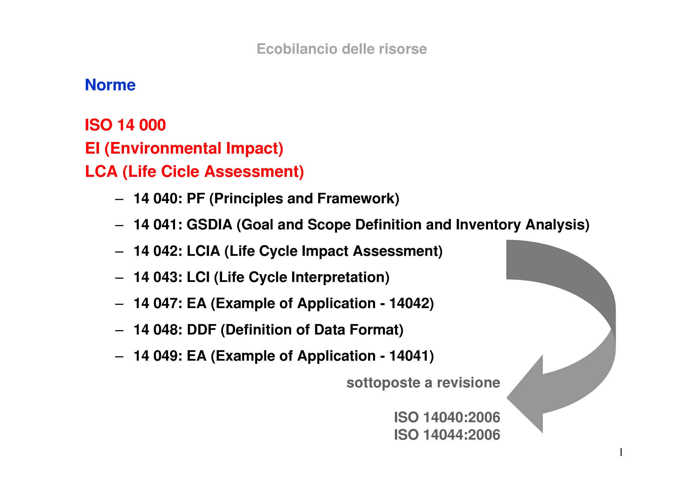 LCA - Normativa ISO