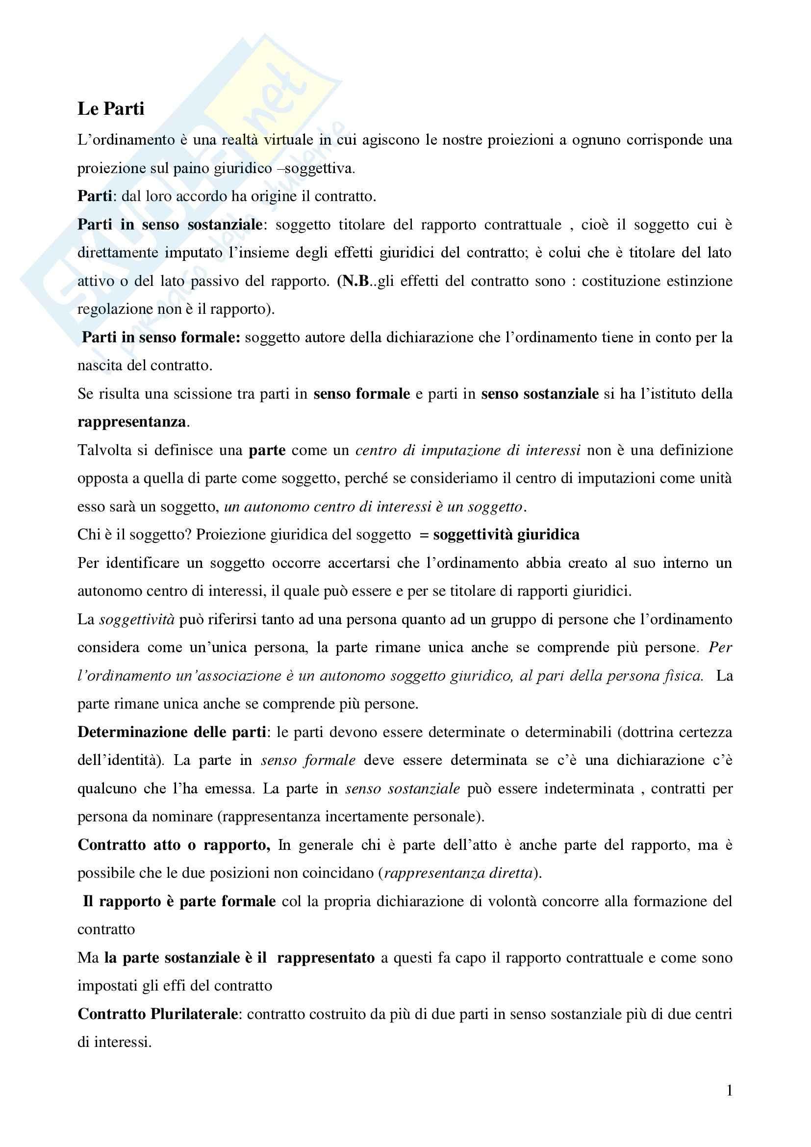 Diritto civile - la causa - Appunti