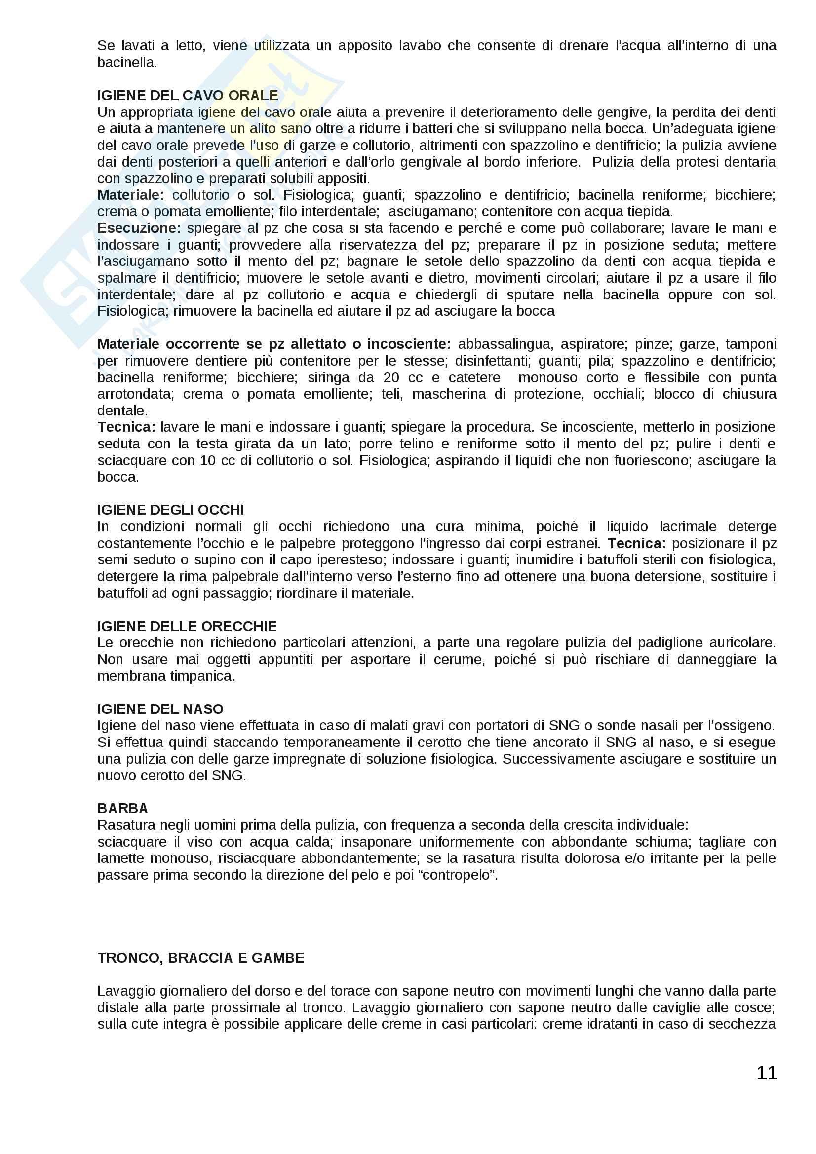 ESAME DI STATO: Corso di scienze infermieristiche Pag. 11
