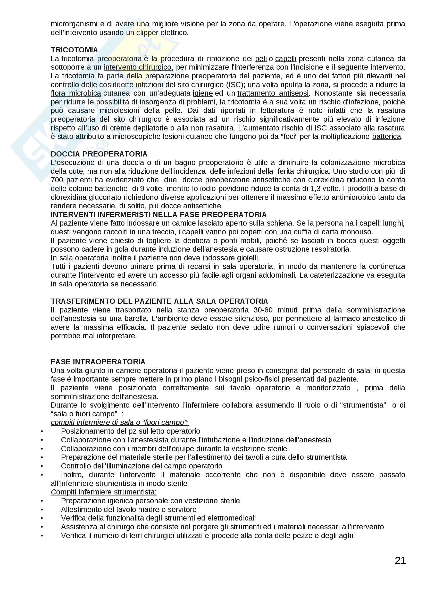 ESAME DI STATO: Corso di scienze infermieristiche Pag. 21