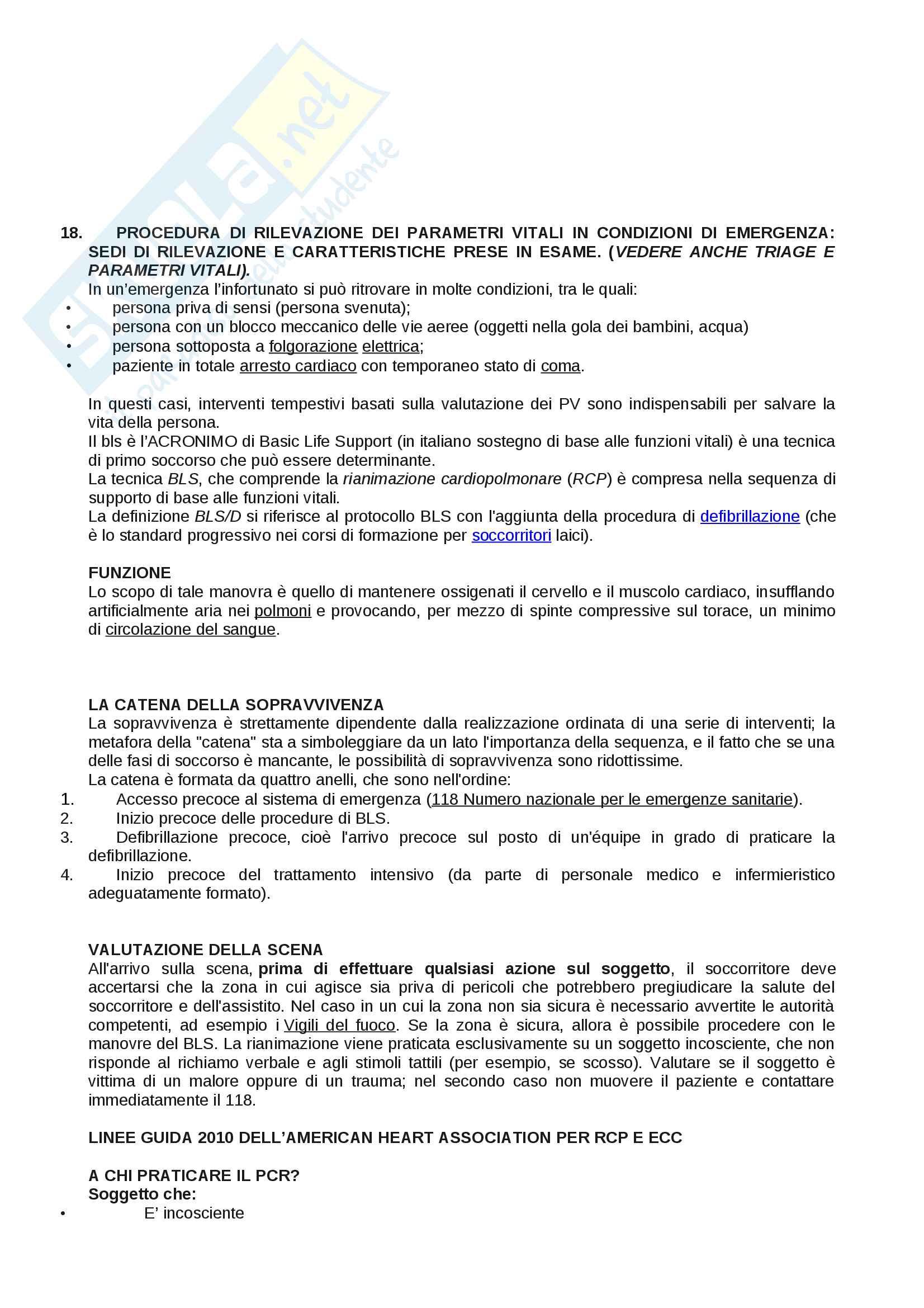 ESAME DI STATO: Corso di scienze infermieristiche Pag. 41