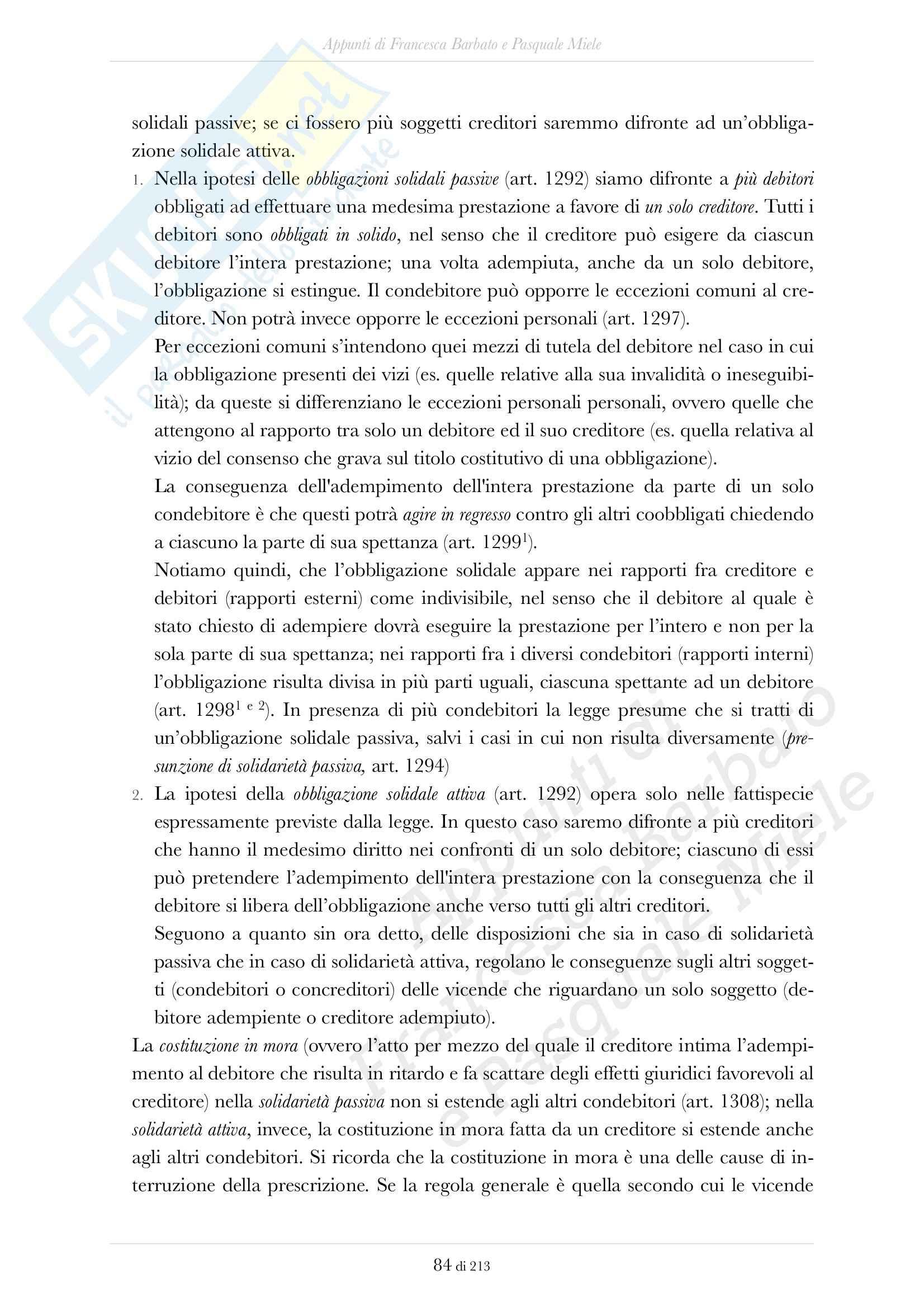 Obbligazioni, Istituzioni di diritto privato Pag. 11