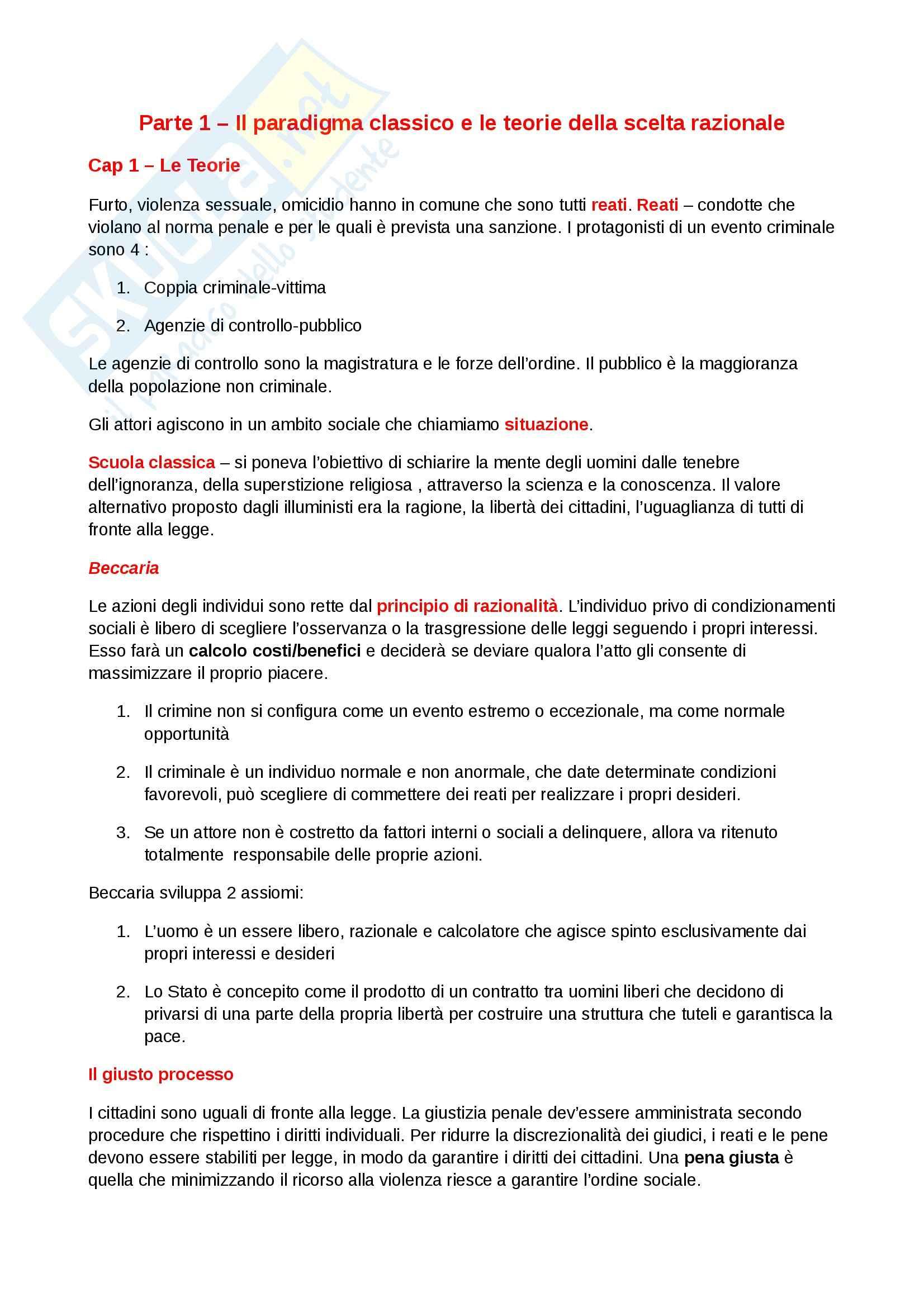 Riassunto esame Diritto, prof. Dameno, libro consigliato La Devianza, Prina