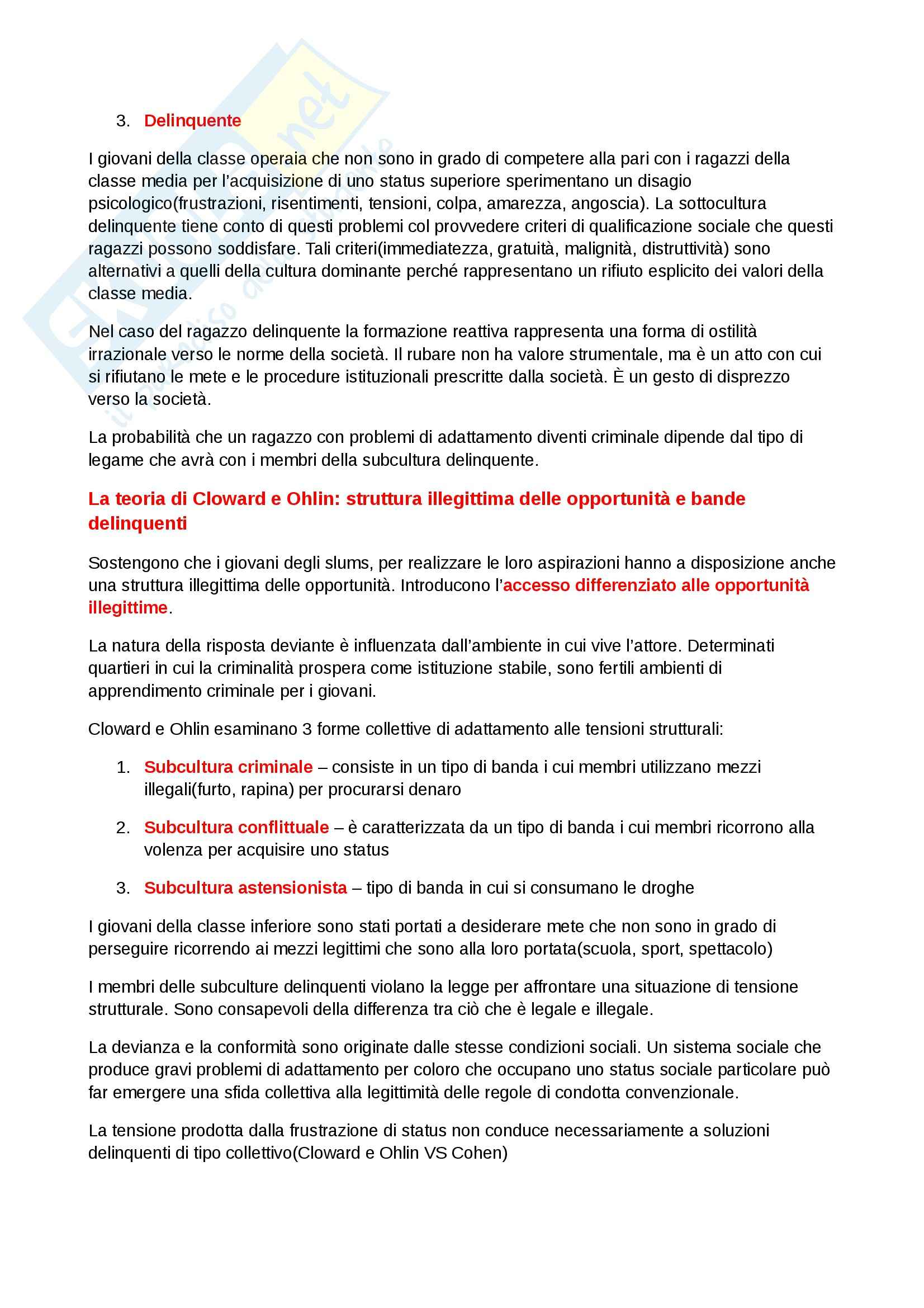 Riassunto esame Diritto, prof. Dameno, libro consigliato La Devianza, Prina Pag. 11