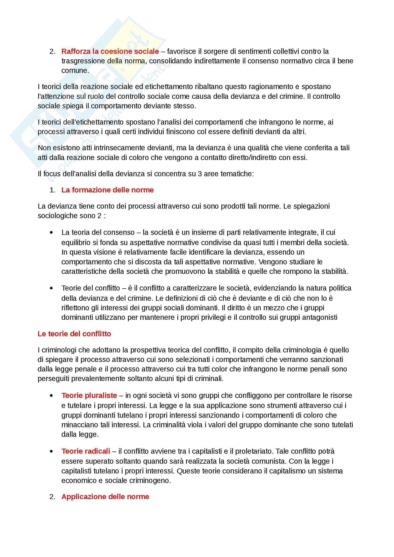Riassunto esame Diritto, prof. Dameno, libro consigliato La Devianza, Prina Pag. 16