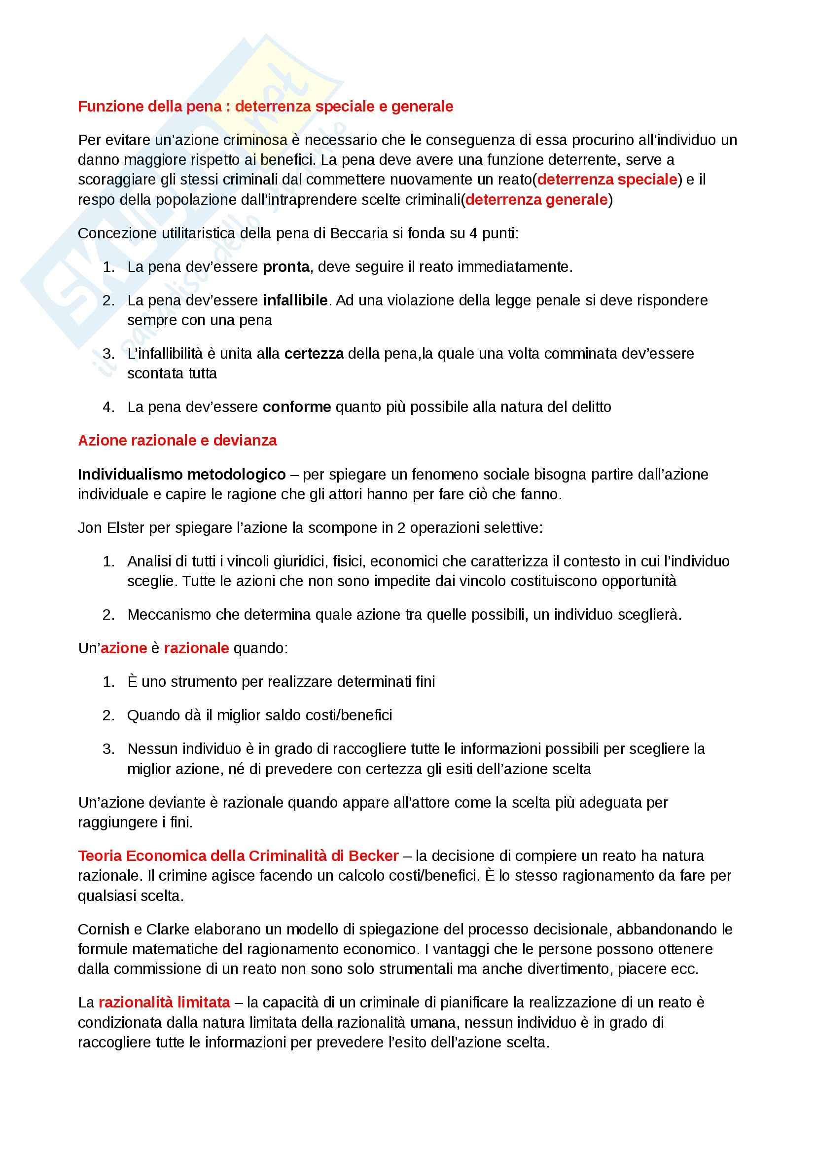 Riassunto esame Diritto, prof. Dameno, libro consigliato La Devianza, Prina Pag. 2