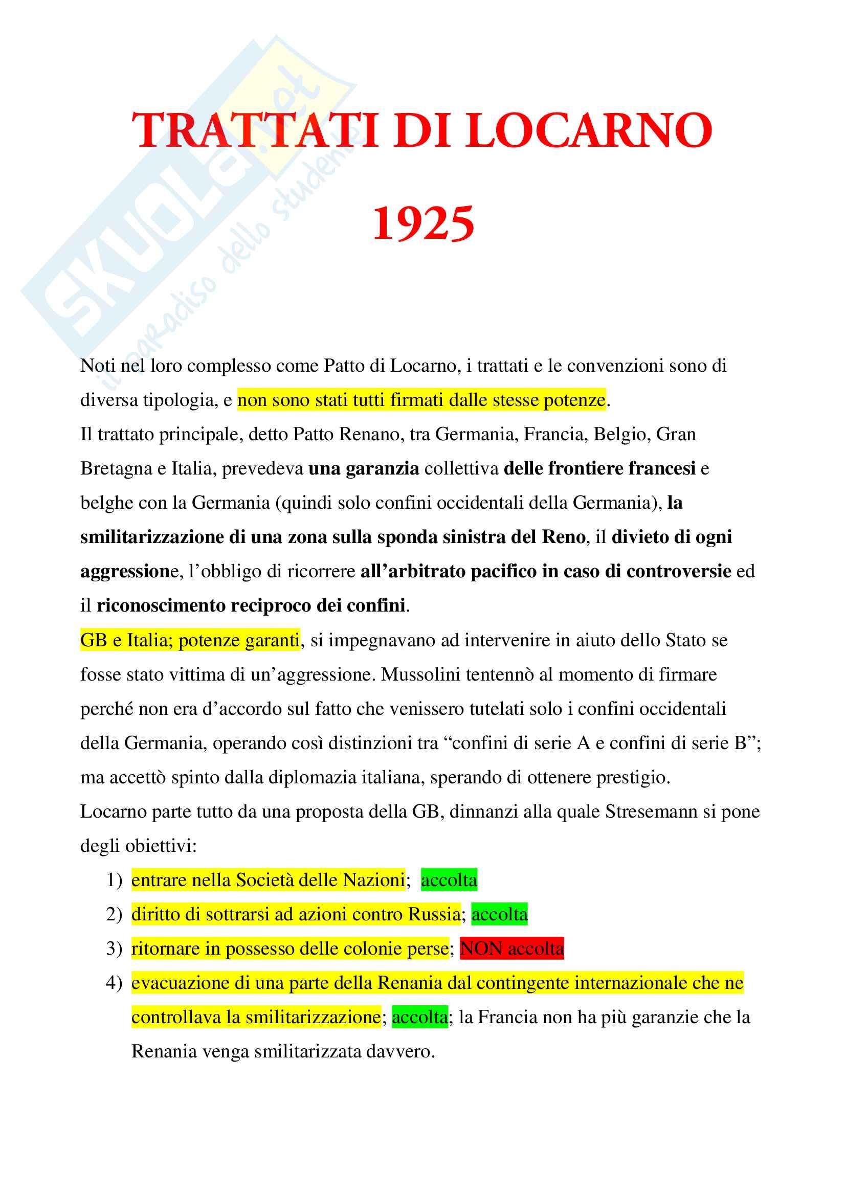 Trattati di Locarno 1925