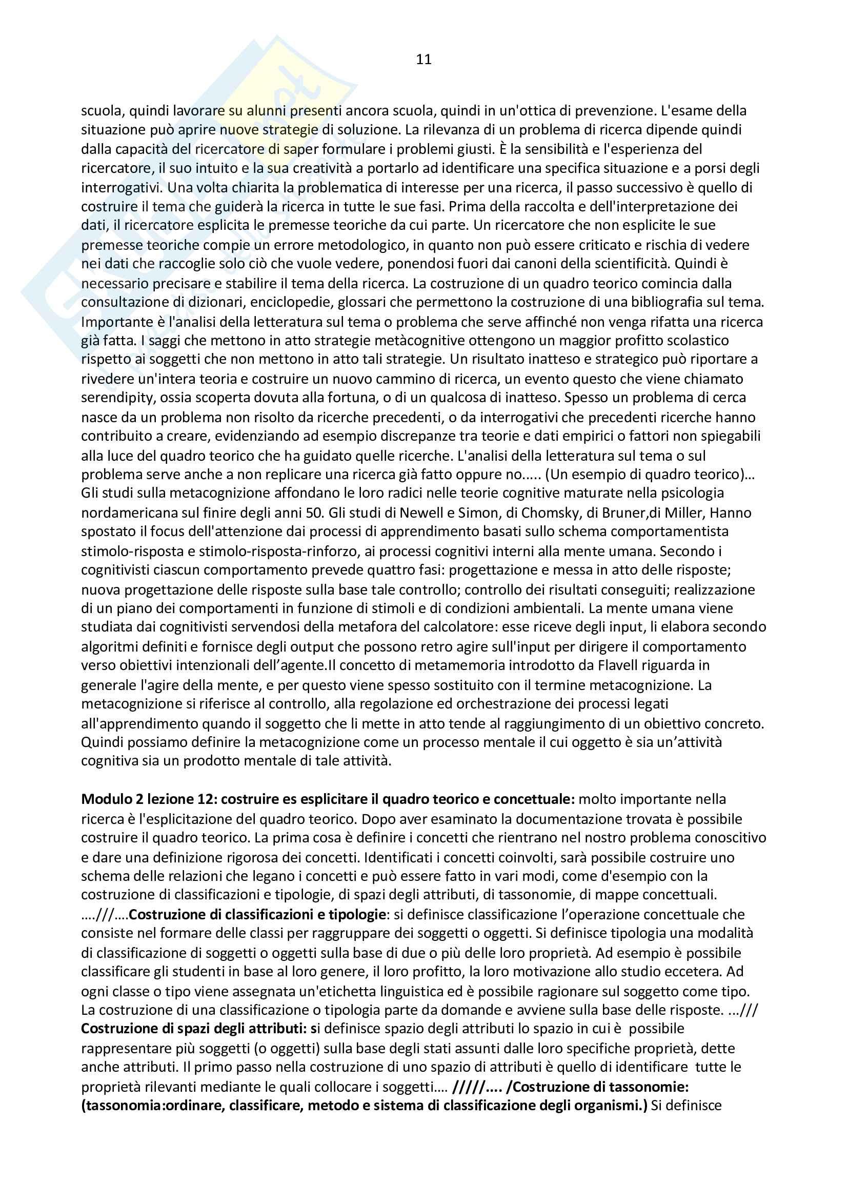 Riassunto pedagogia sperimentale - prof Melchiori Pag. 11